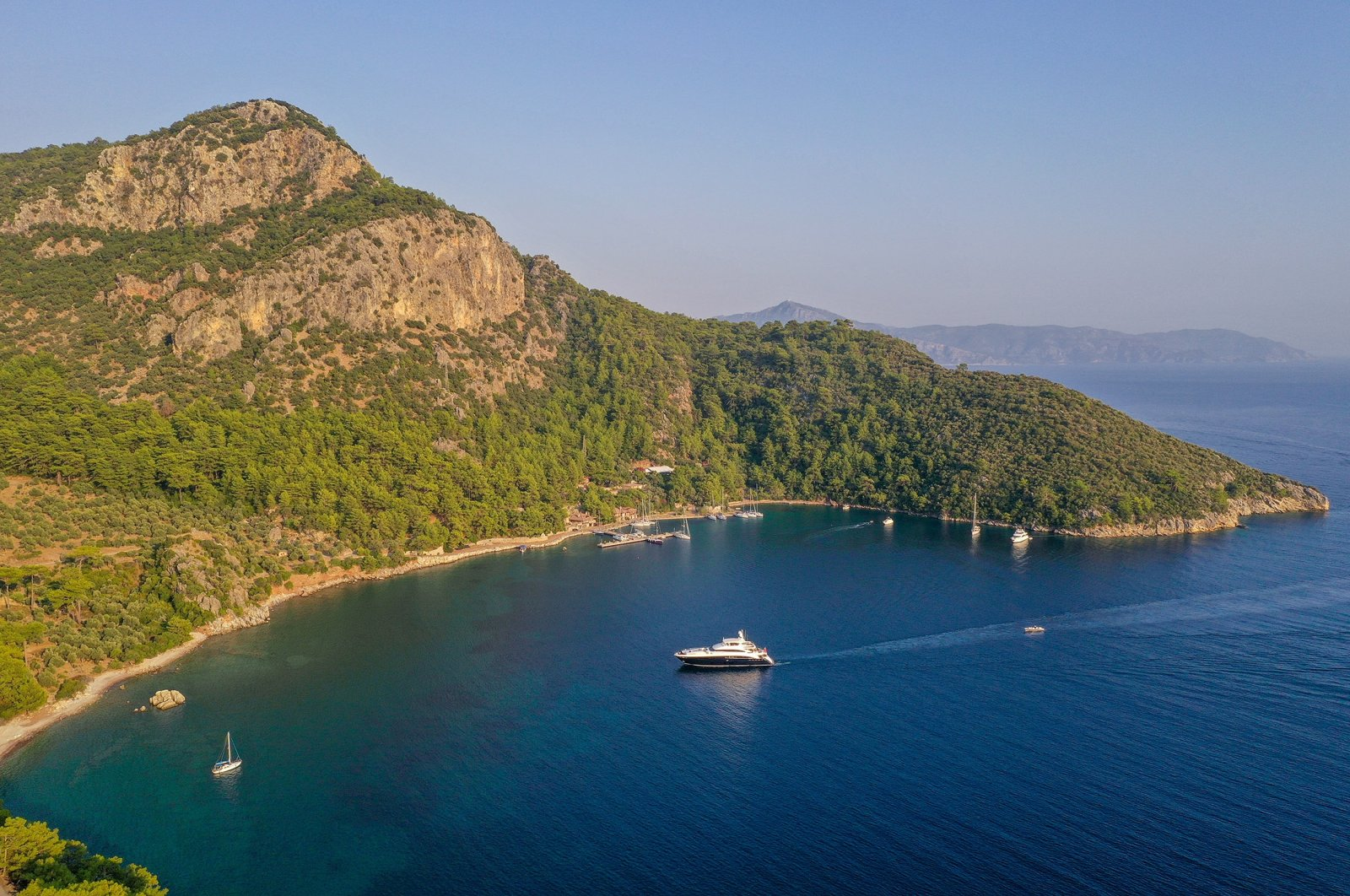 Aerial landscape of Ekincik Bay, Köyceğiz, Turkey. (Shutterstock Photo)