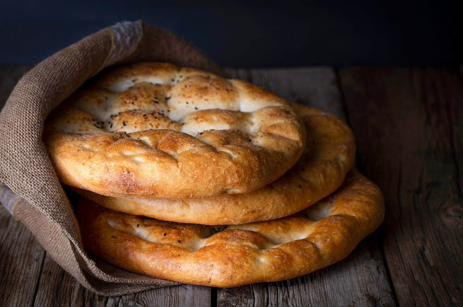 The Ramadan pide, also called pita, is a traditional Turkish bread consumed during the holy month of Ramadan. (Shutterstock Photo)