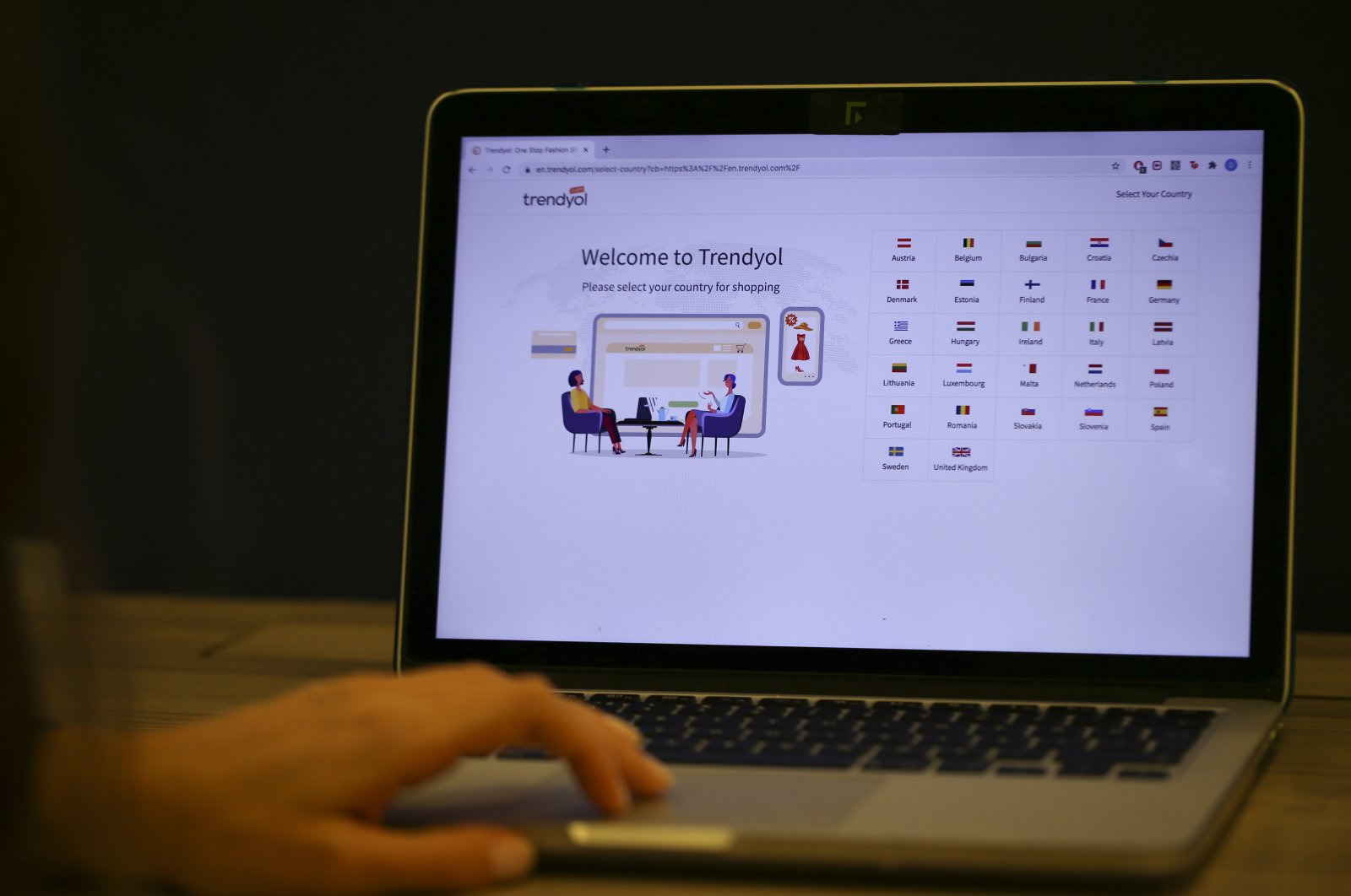 Turkish e-commerce company Trendyol is accessed on a laptop, Oct. 13, 2020. (AA Photo)