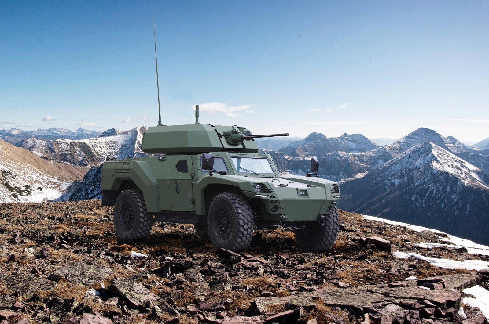 Turkish land vehicle manufacturer Otokar's Akrep II armored vehicle seen in this photo provided on April 15, 2021. (Courtesy of Otokar)