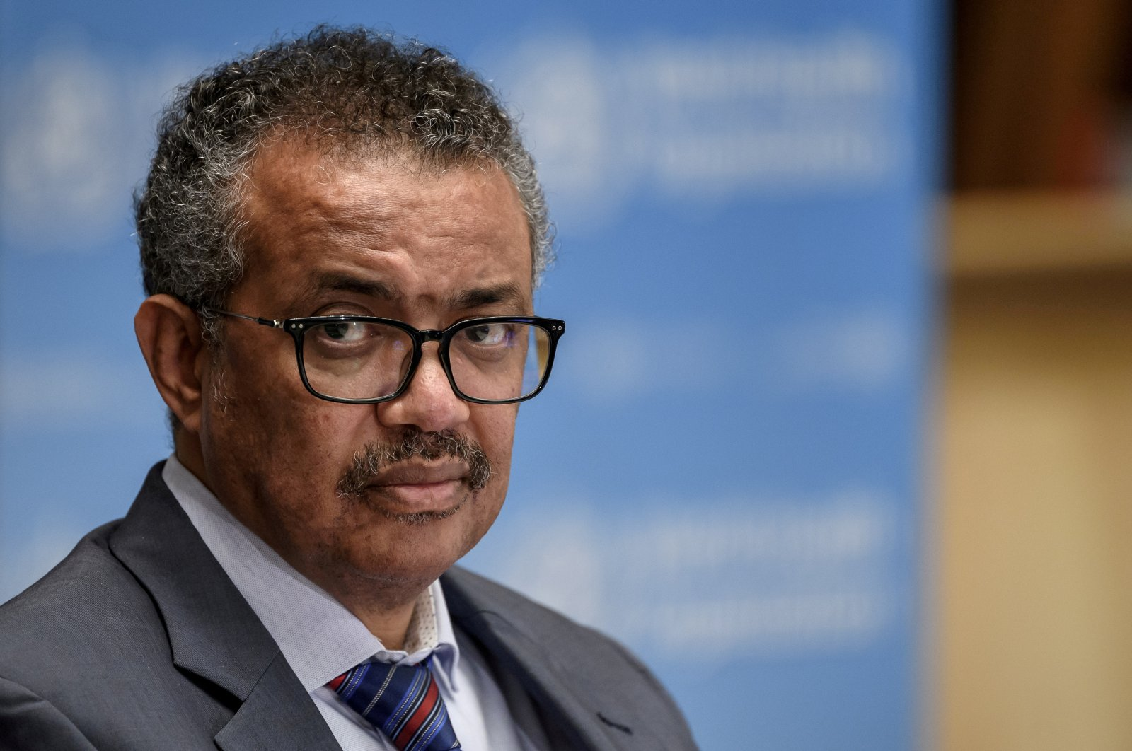 World Health Organization (WHO) Director-General Tedros Adhanom Ghebreyesus attends a news conference at the WHO headquarters in Geneva Switzerland July 3, 2020. (Reuters Photo)