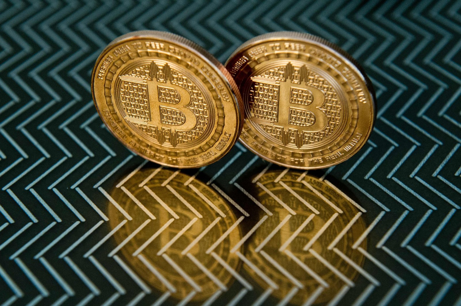 Bitcoin medals seen in Washington, D.C., the U.S., June 17, 2014. (AFP Photo)