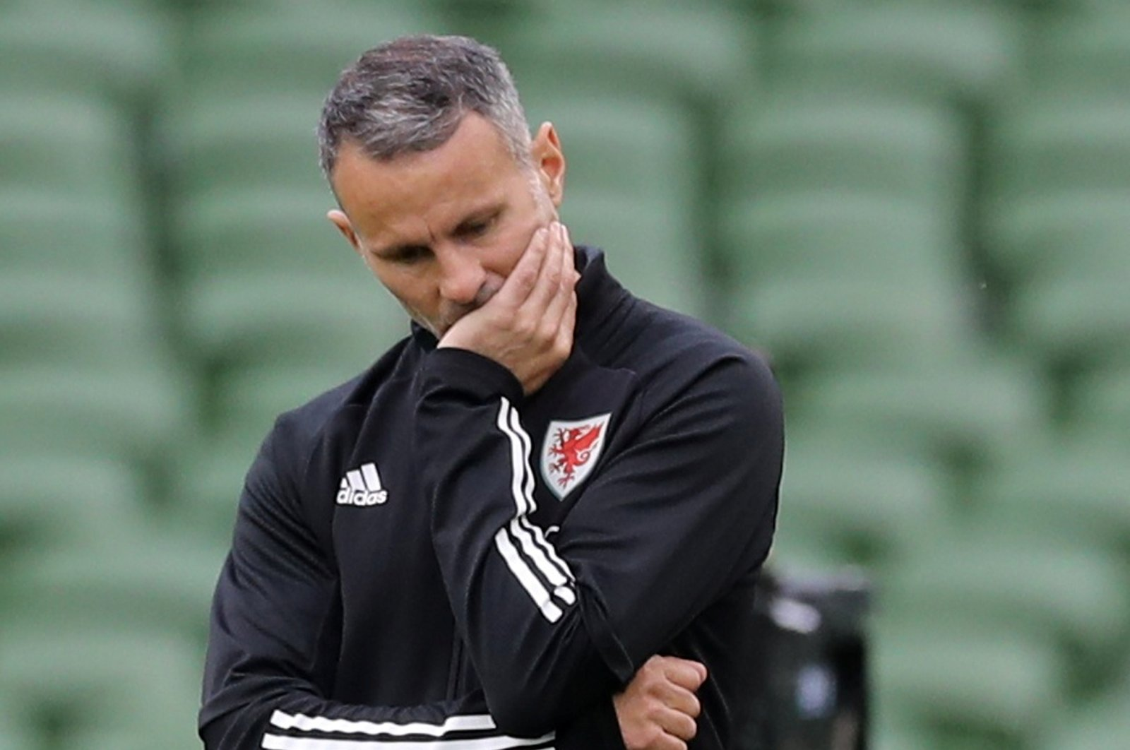 Wales manager Ryan Giggs during the UEFA Nations League match between the Republic of Ireland and Wales, Aviva Stadium, Dublin, Ireland, Oct. 11, 2020. (Reuters File Photo)