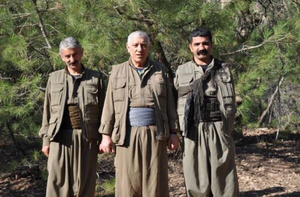 File photoshowsPKK/KCK terrorist killed by Turkish security forces Dalokay Şanlı (L) standing with other members of the organization.(AA Photo)