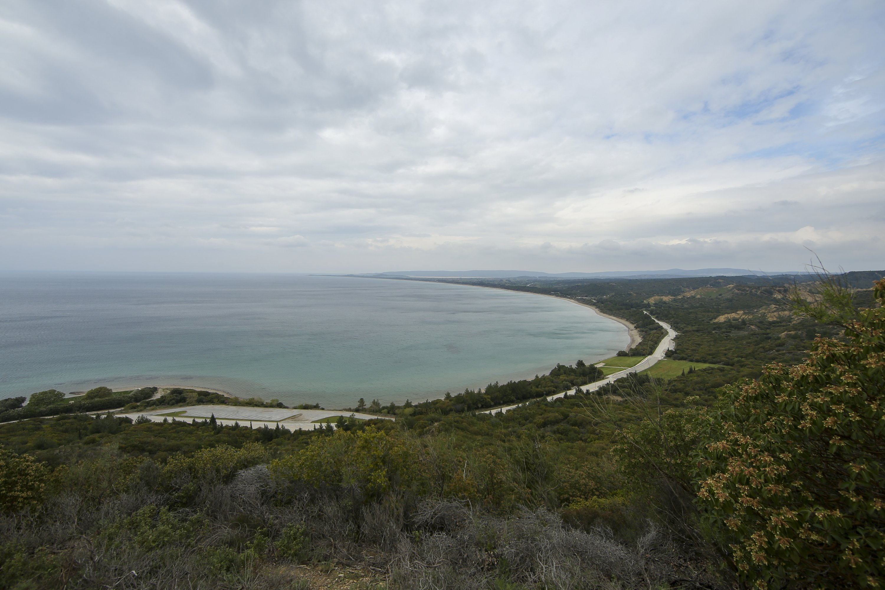 A view of Anzac Cove, site of the World War I landing of the Australian and New Zealand Army Corps (Anzacs) a day ahead of the 106th anniversary of the Gallipoli Campaign in Çanakkale, Turkey, April 24, 2021. (AP Photo)
