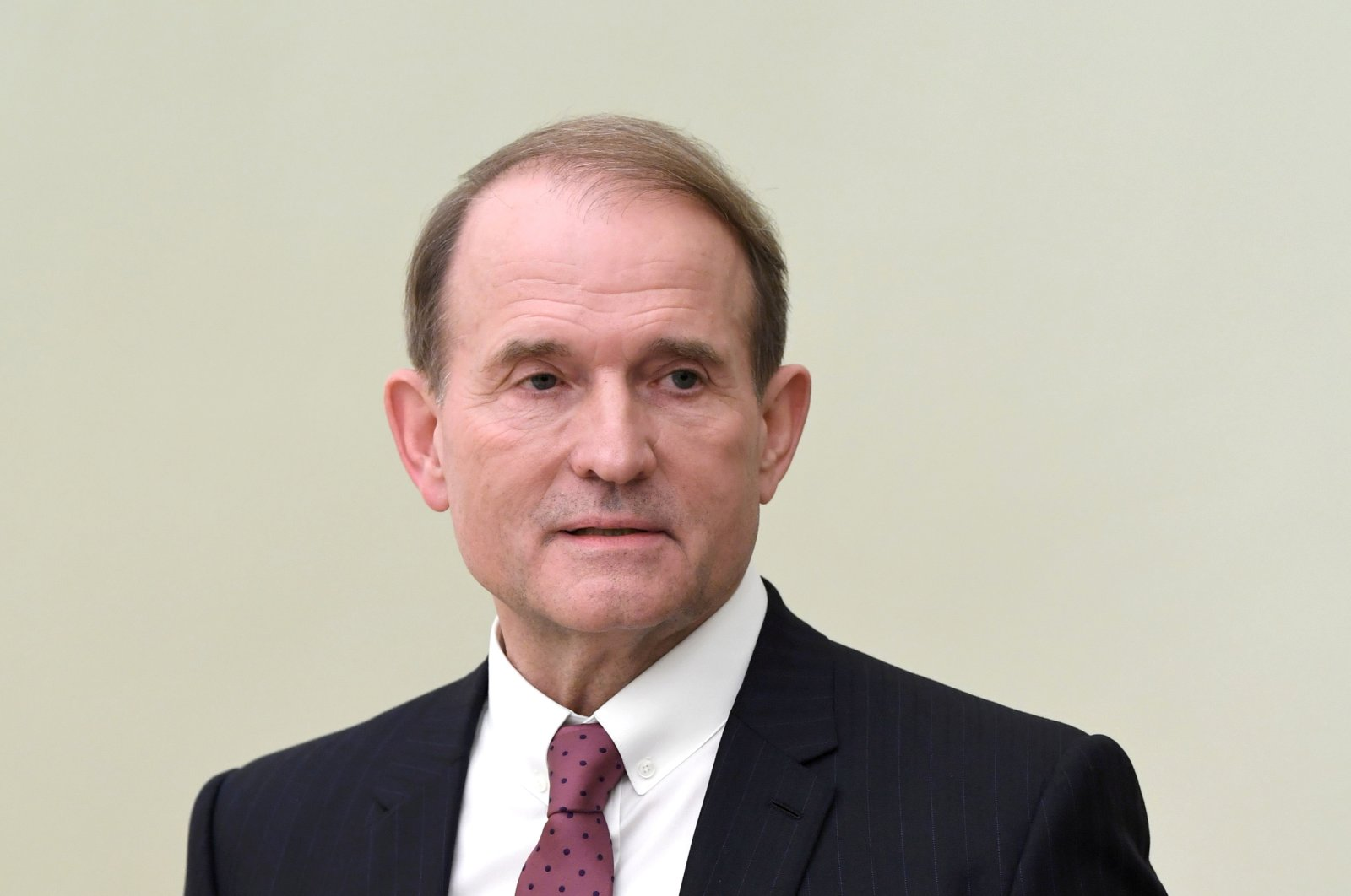 Leader of Ukraine's Opposition Platform, For Life political party Viktor Medvedchuk attends a meeting with Russia's President Vladimir Putin in Moscow, Russia, March 10, 2020. (Reuters Photo)