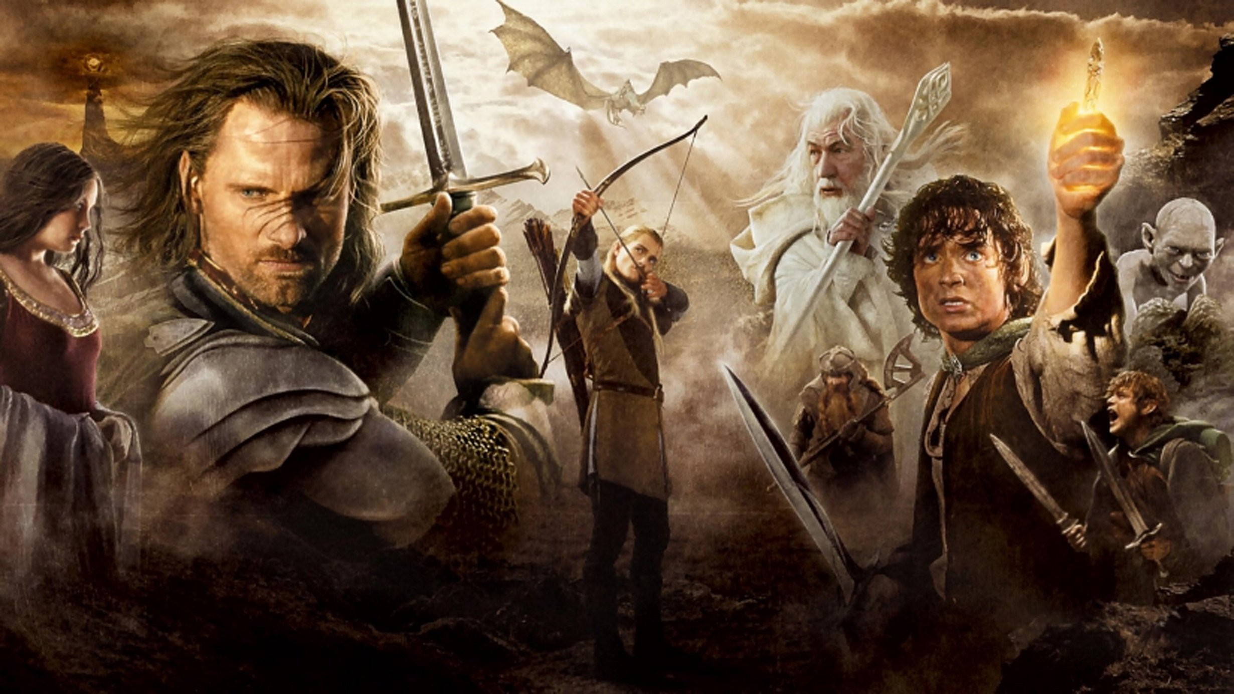 A collage depicting the movie The Lord of the Rings: The return of the King. (Archive Photo)