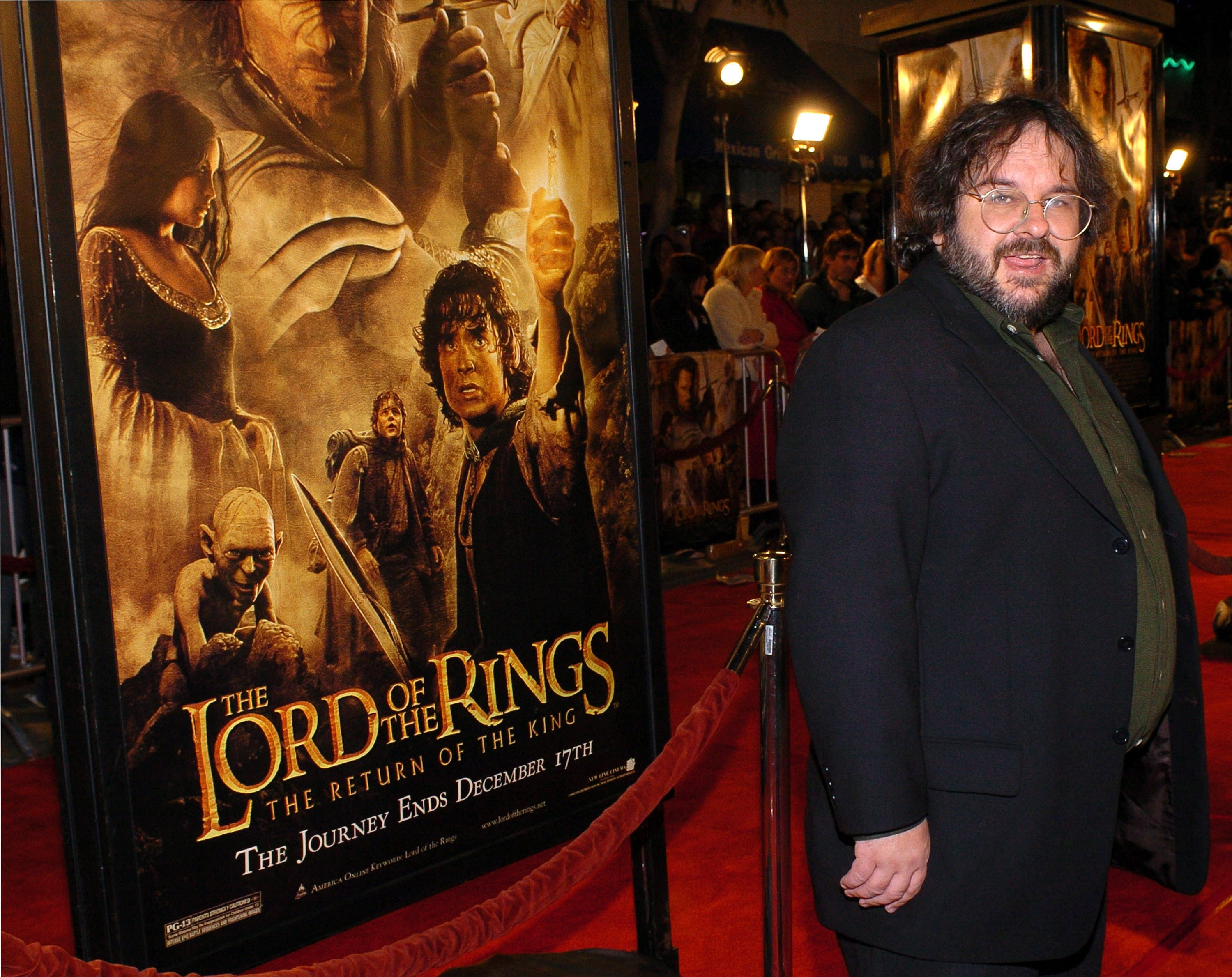 Peter Jackson during 'The Lord Of The Rings:The Return Of The King' Los Angeles Premiere - Red Carpet at Mann Village Theatre in Westwood, California, United States. (WireImage via Getty Images)