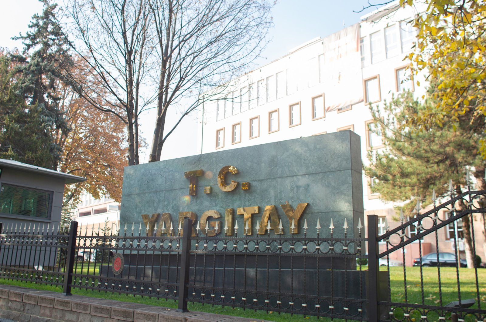 A sign for the Court of Cassation sits in front of its building in the capital Ankara, Turkey, Nov. 13, 2018. (Shutterstock Photo)