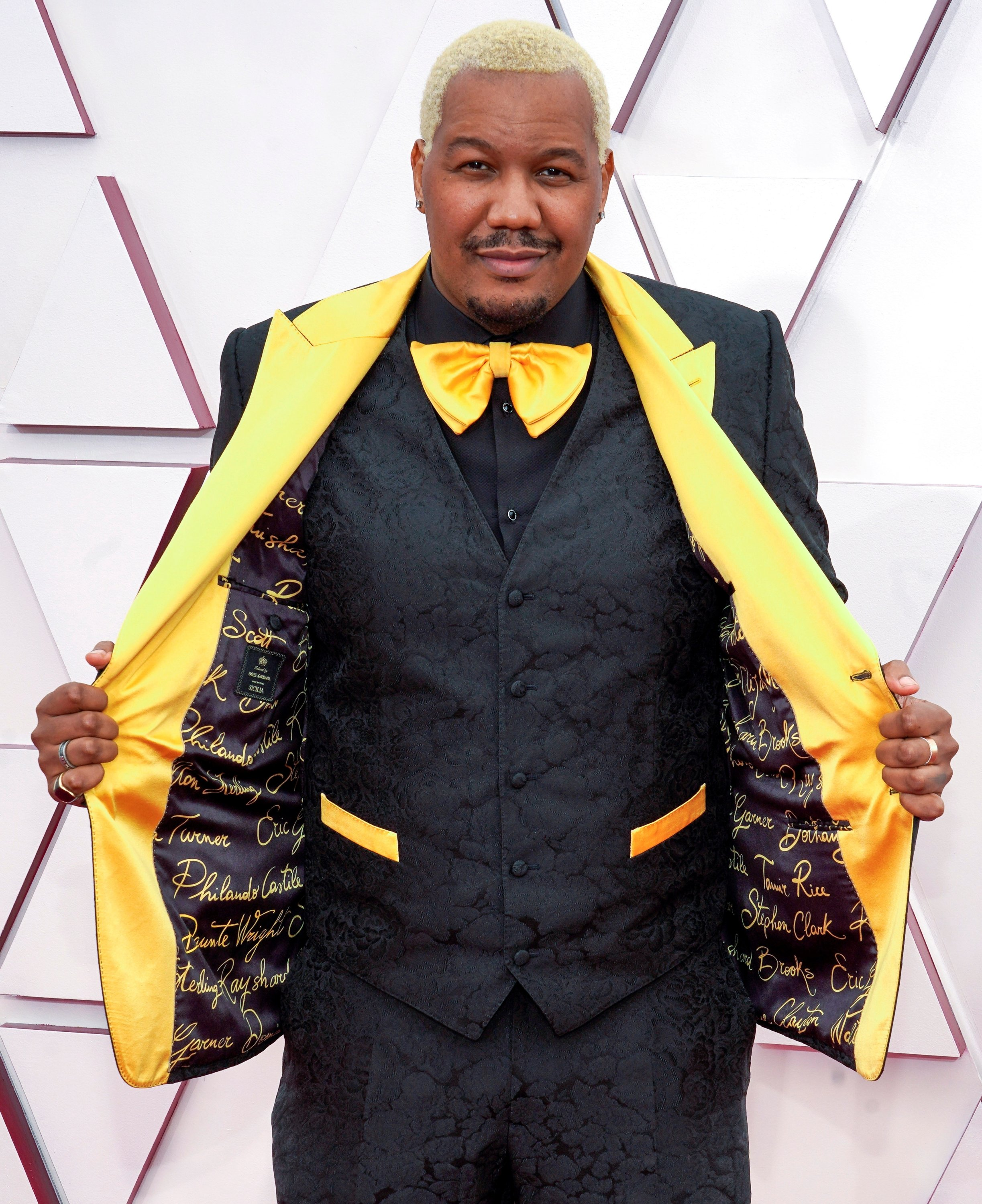 Oscar nominee Travon Free arrives at the Oscars red carpet for the 93rd Academy Awards in Los Angeles, California, U.S., April 25, 2021. (REUTERS Photo)