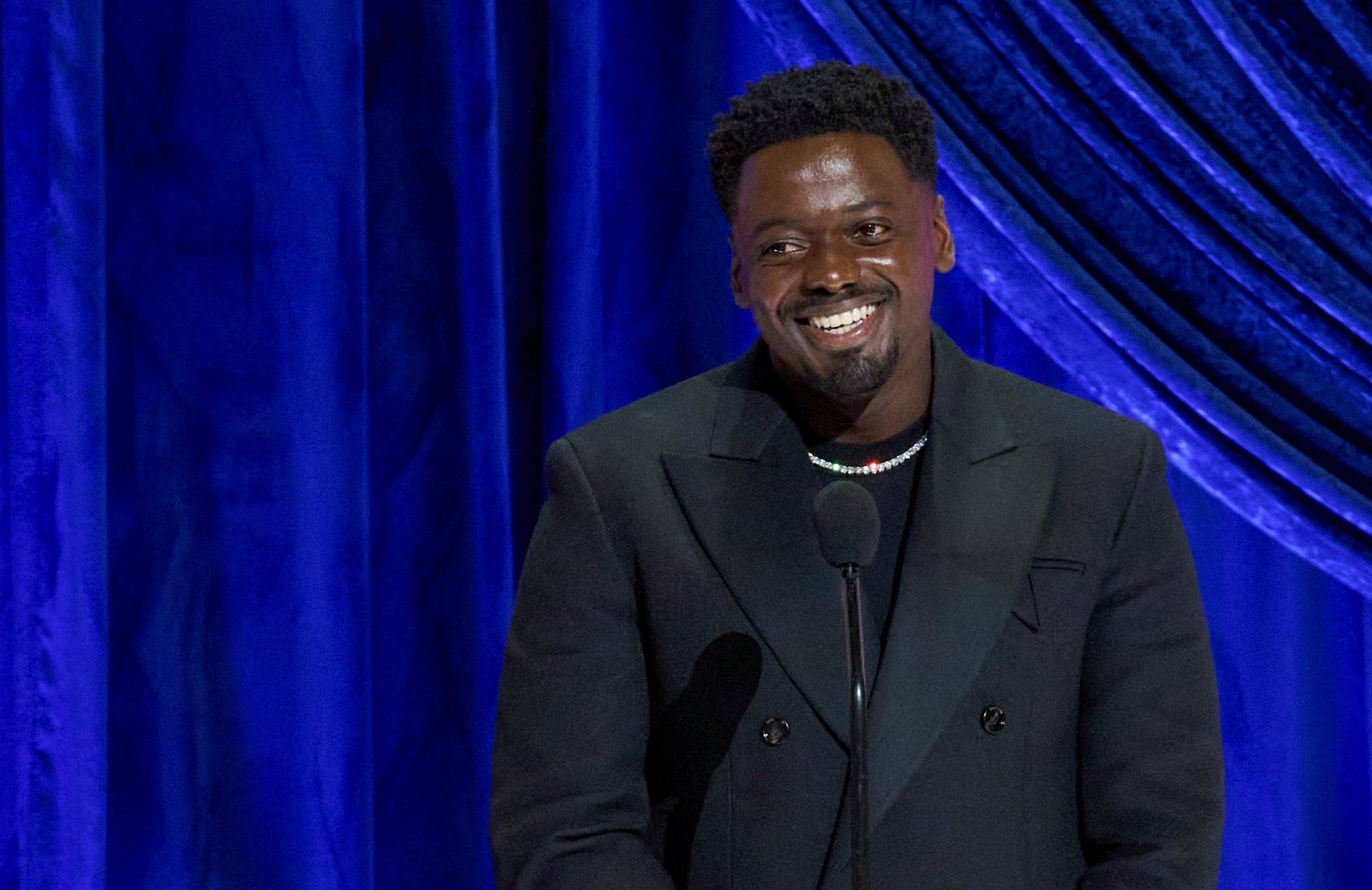 Daniel Kaluuya accepts the Oscar for Best Actor in a Supporting Role during the live ABC Telecast of The 93rd Oscars in Los Angeles, California, U.S., April 25, 2021. (REUTERS Photo)