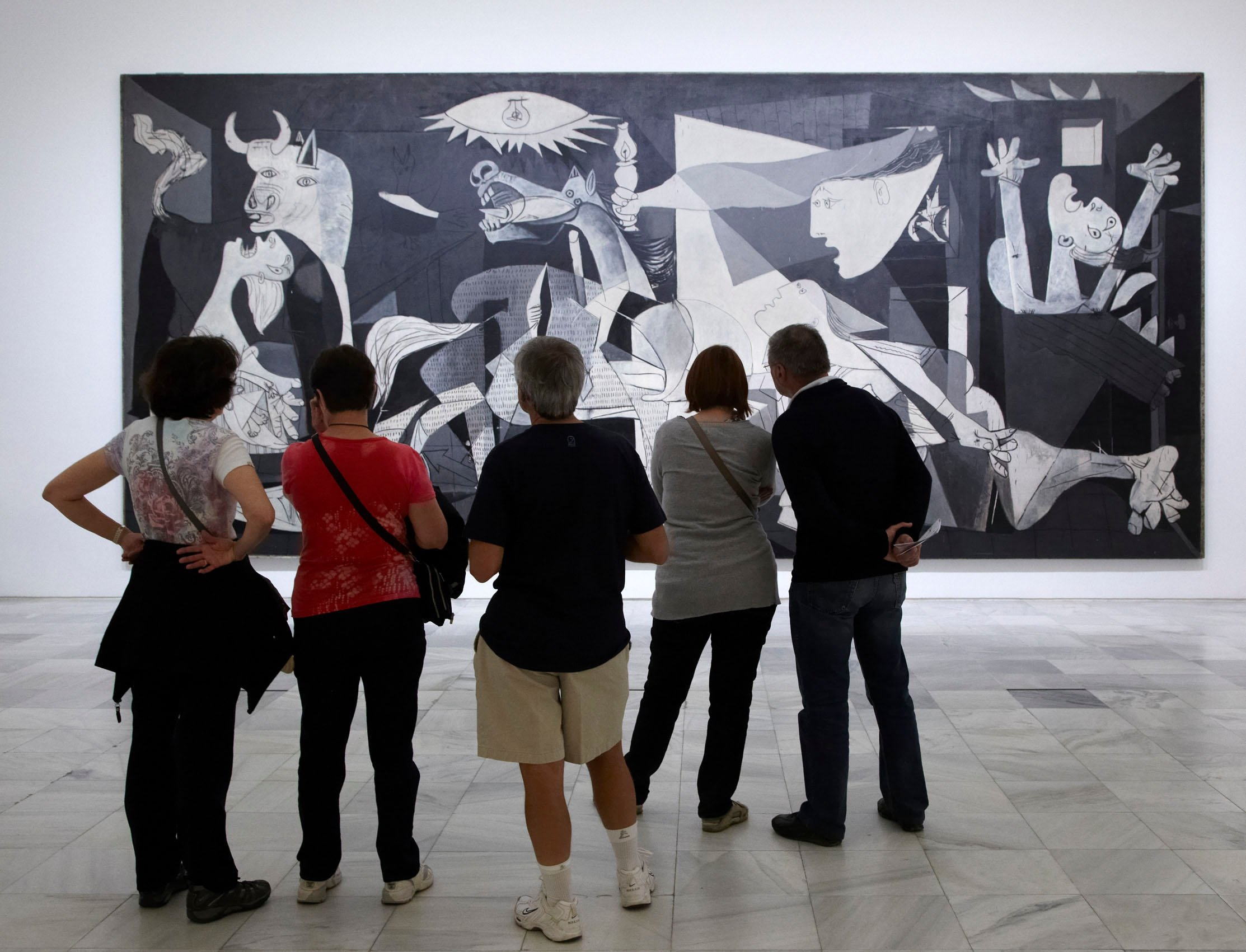 'Guernica,' one of Pablo Picasso's most famous paintings, can be seen in the Reina Sofia National Museum in Madrid. (DPA Photo)