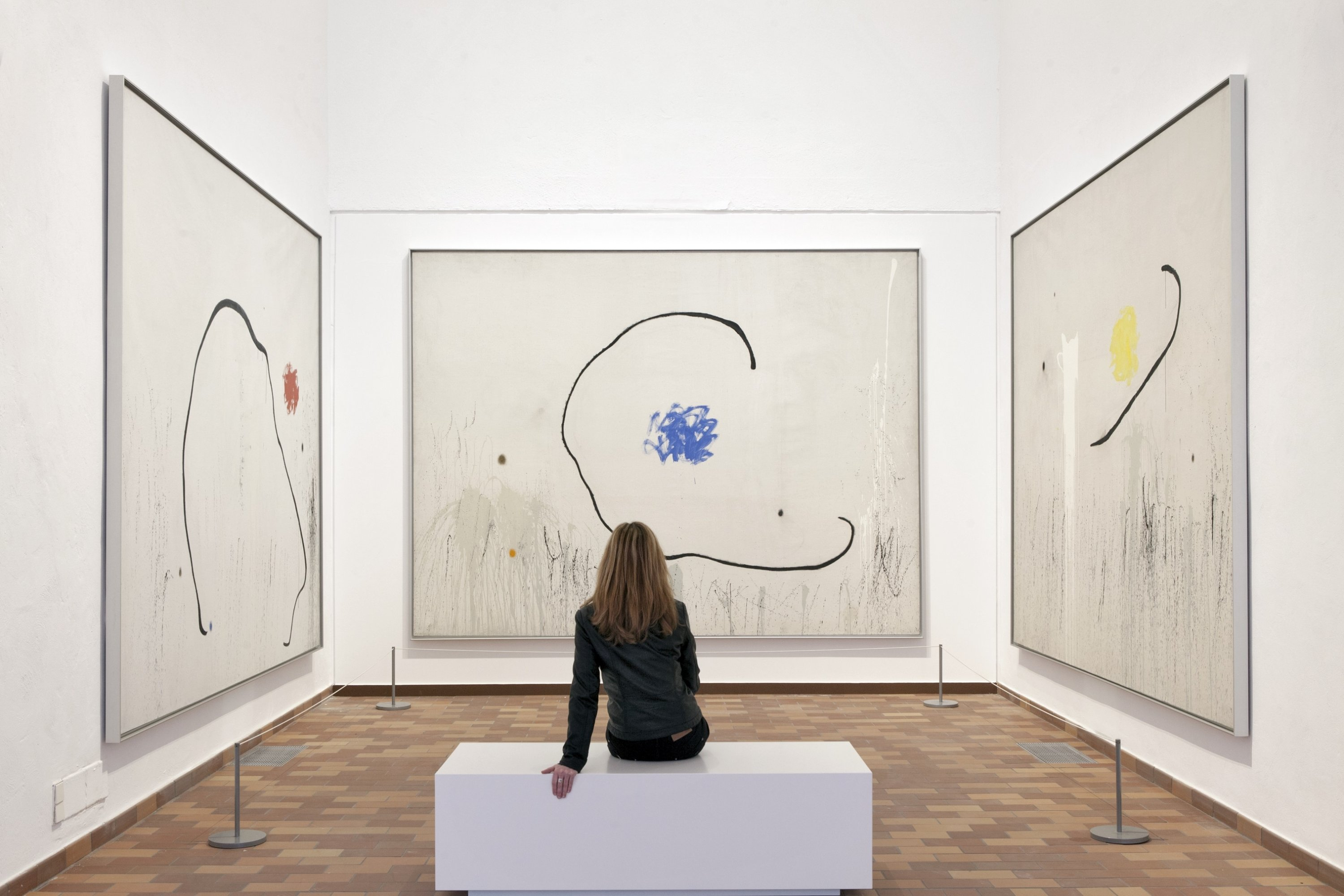 Paintings at the Miro Museum in Barcelona, Spain. (DPA Photo)