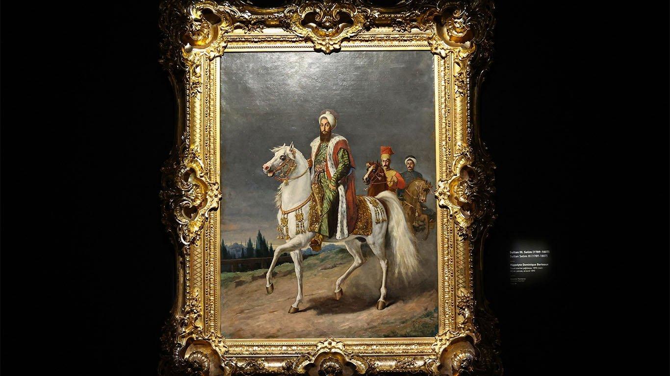 A painting on display at the National Palaces Painting Museum at Dolmabahçe Palace's Crown Prince Residence, Istanbul, Turkey, April 24, 2021. (AA Photo)