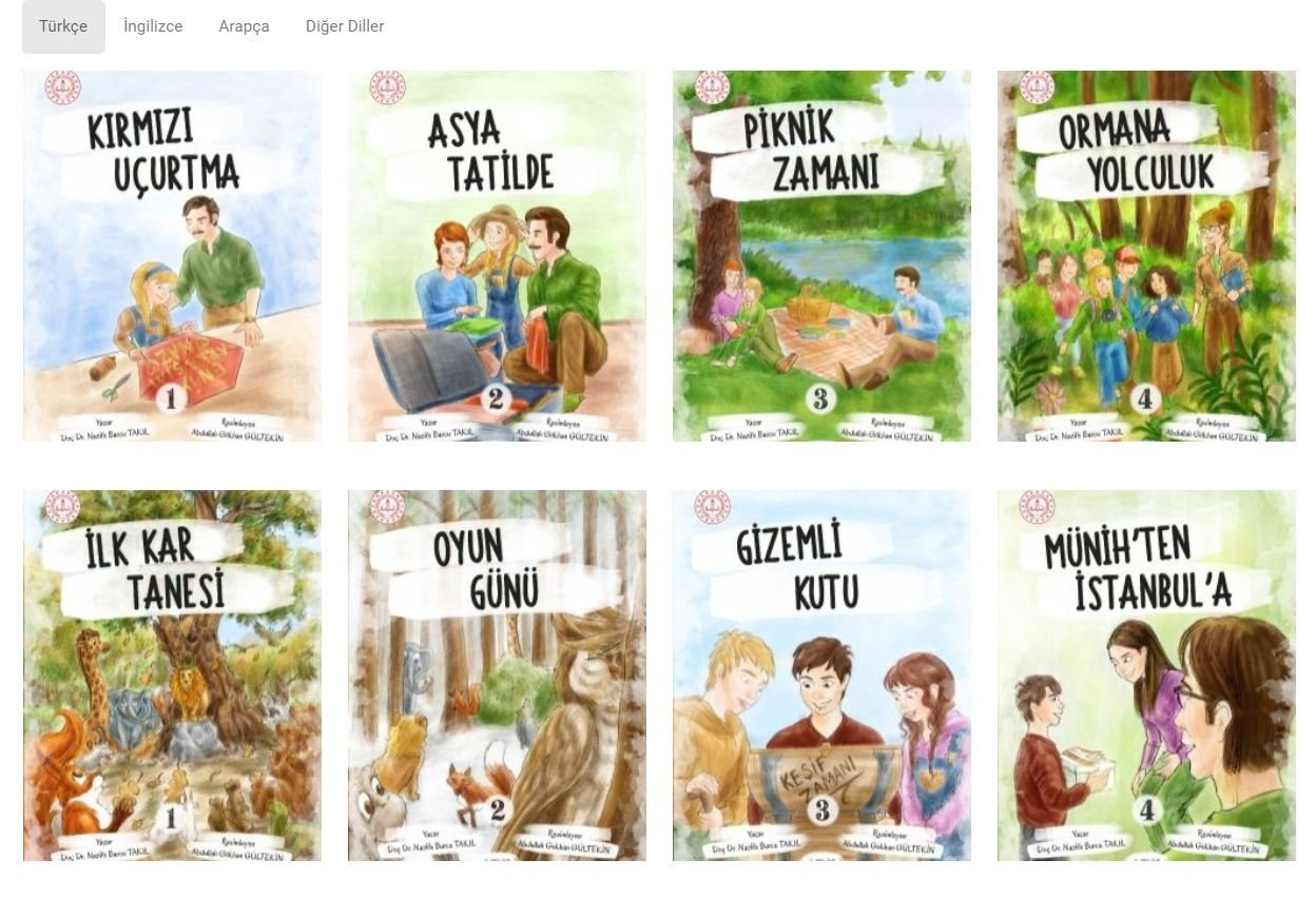 The Turkish Ministry of National Education has published audio storybooks prepared for children living abroad, Ankara, Turkey. (DHA Photo)