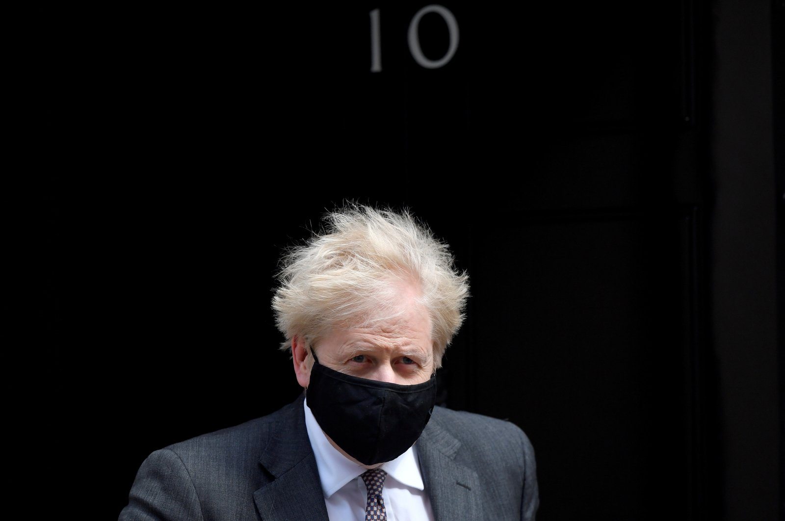 Britain's Prime Minister Boris Johnson leaves Downing Street, amid the coronavirus disease (COVID-19) pandemic, in London, Britain, April 21, 2021. (Rueters Photo)