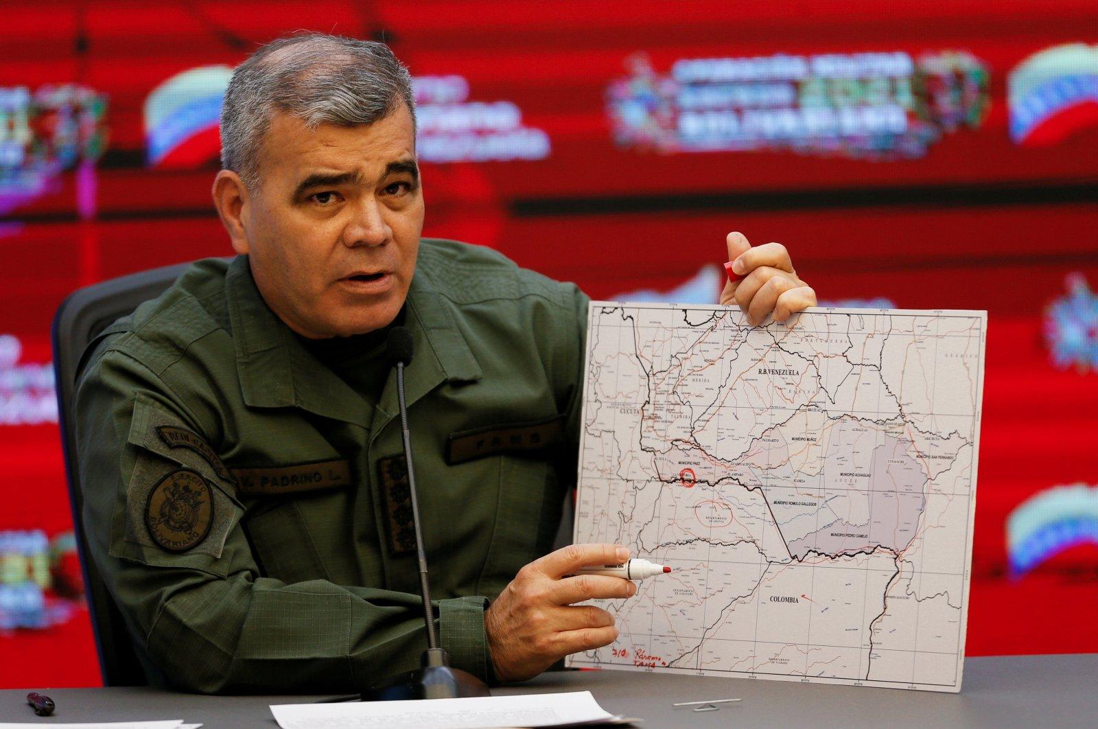Venezuela's Defense Minister Vladimir Padrino Lopez addresses the media at Miraflores Palace, Caracas, Venezuela April 5, 2021. (REUTERS File Photo)