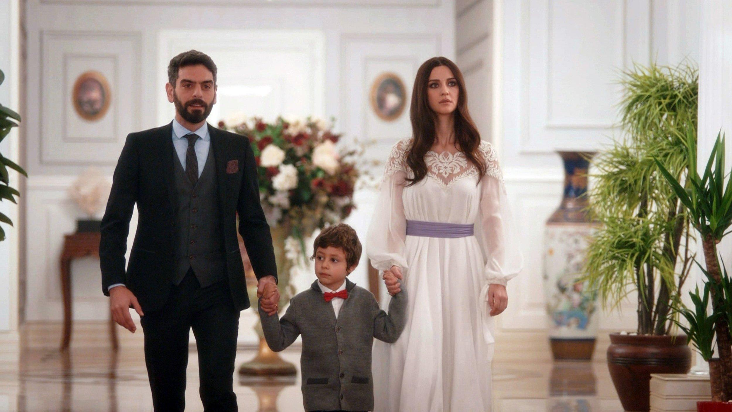 A still shot from 'Sen Anlat Karadeniz' shows actor Mehmet Ali Nuroğlu as Vedat (L), Demir Birinci as Yiğit (C) and actress İrem Helvacıoğlu as Nefes.