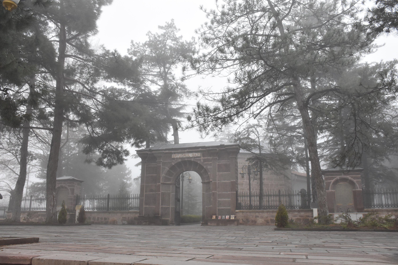 The entrance of the Ertuğrul Ghazi Tomb in Söğüt, Bilecik, Turkey, April 27, 2021. (AA Photo)