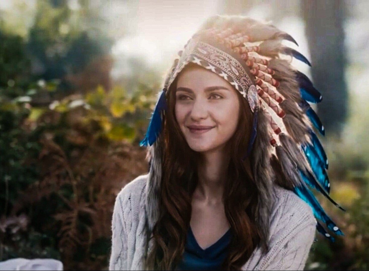 """Nefes calls herself """"Blue Feather"""" in the fantasy world she has created."""