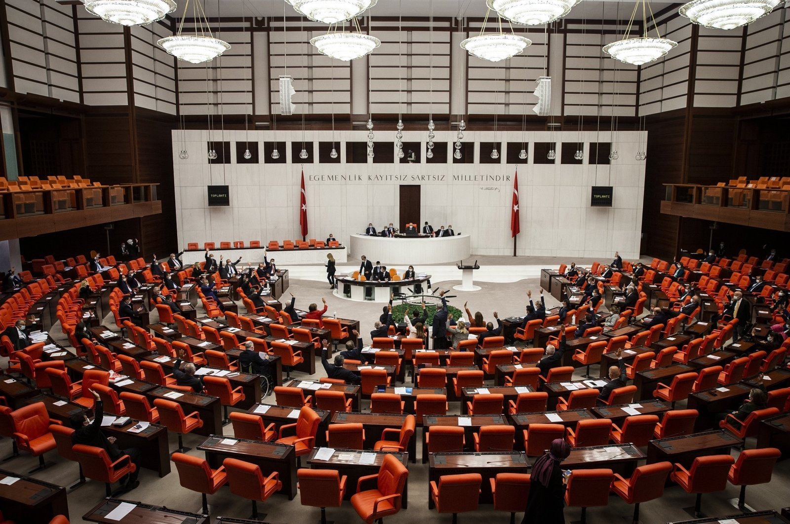The Turkish Parliament as seen in this file photo taken on Nov. 3, 2020. (AA Photo)