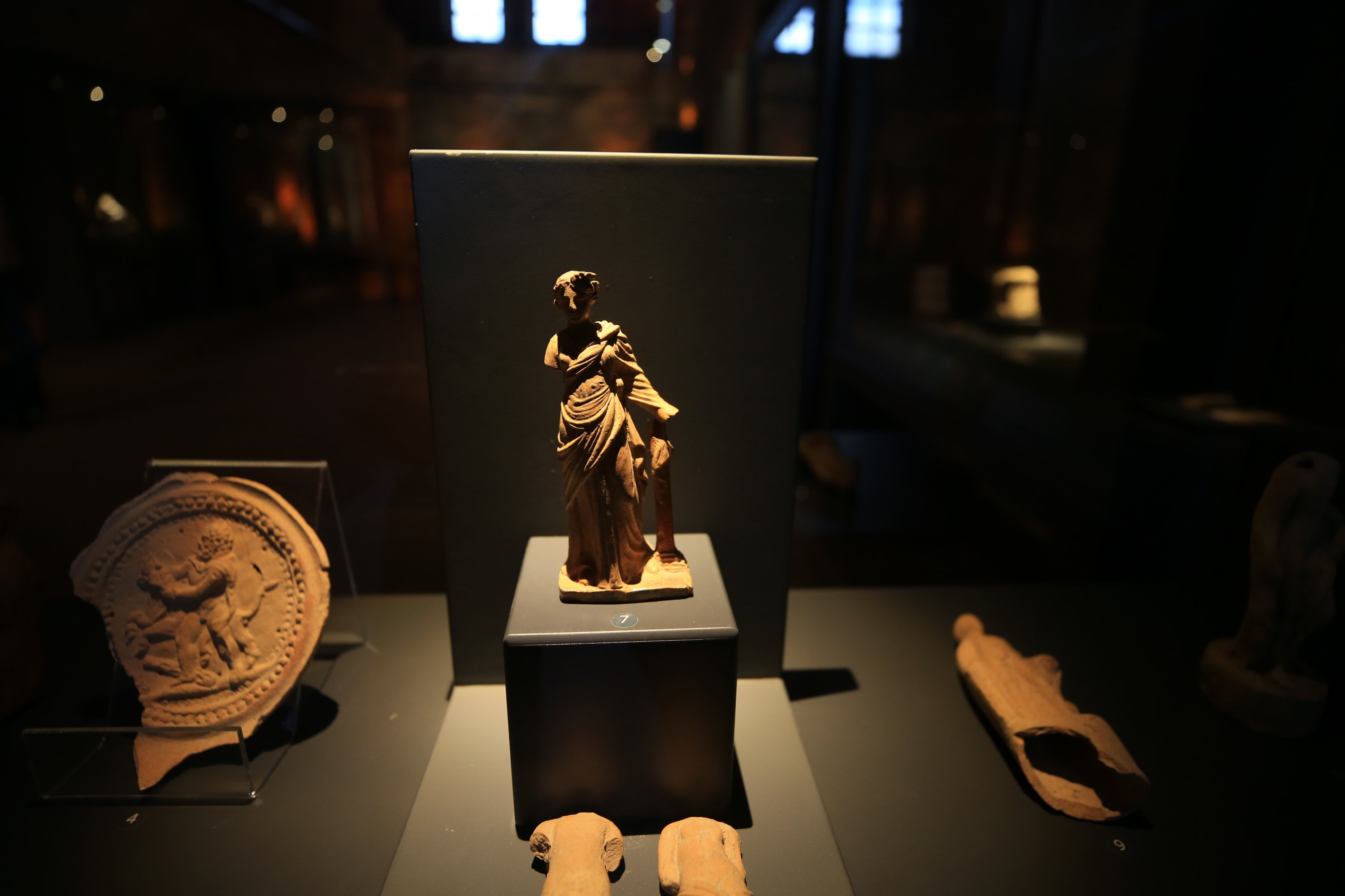 Artifacts from the Lycian civilizations are on display at the Museum of Lycian Civilizations, Antalya, southern Turkey, April 27, 2021. (AA Photo)