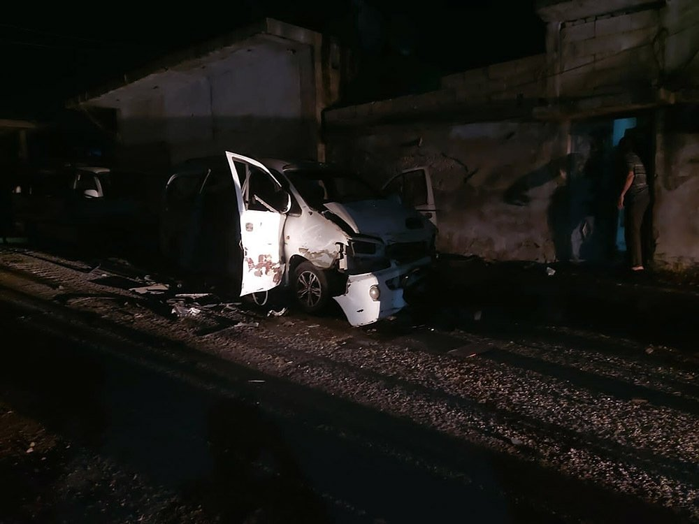 Two attacks in northern Syria's Jarablus killed one and wounded 20 other people, April 27, 2021 (IHA Photo)