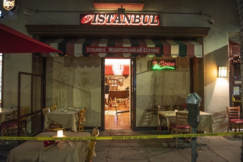 Cafe Istanbul in California's Beverly Hills, U.S., Nov. 4, 2020. (IHA Photo)