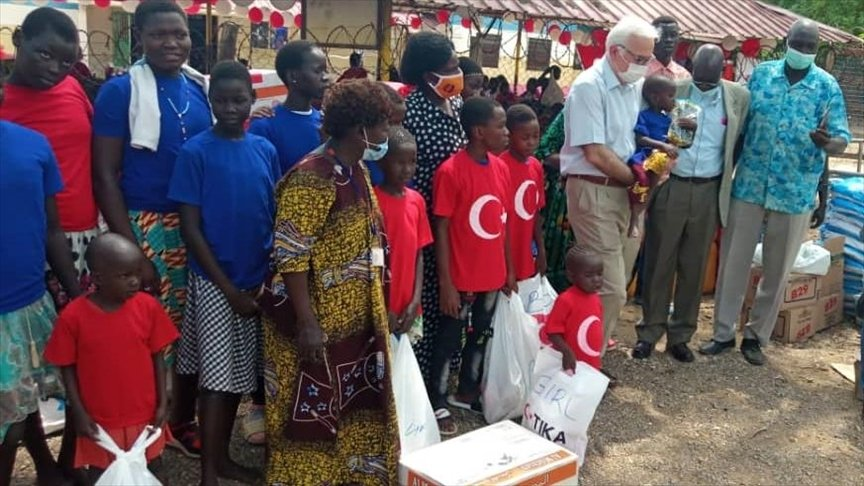 Turkey provided humanitarian aid to orphanages in Juba, South Sudan, April 21, 2021 (AA Photo)
