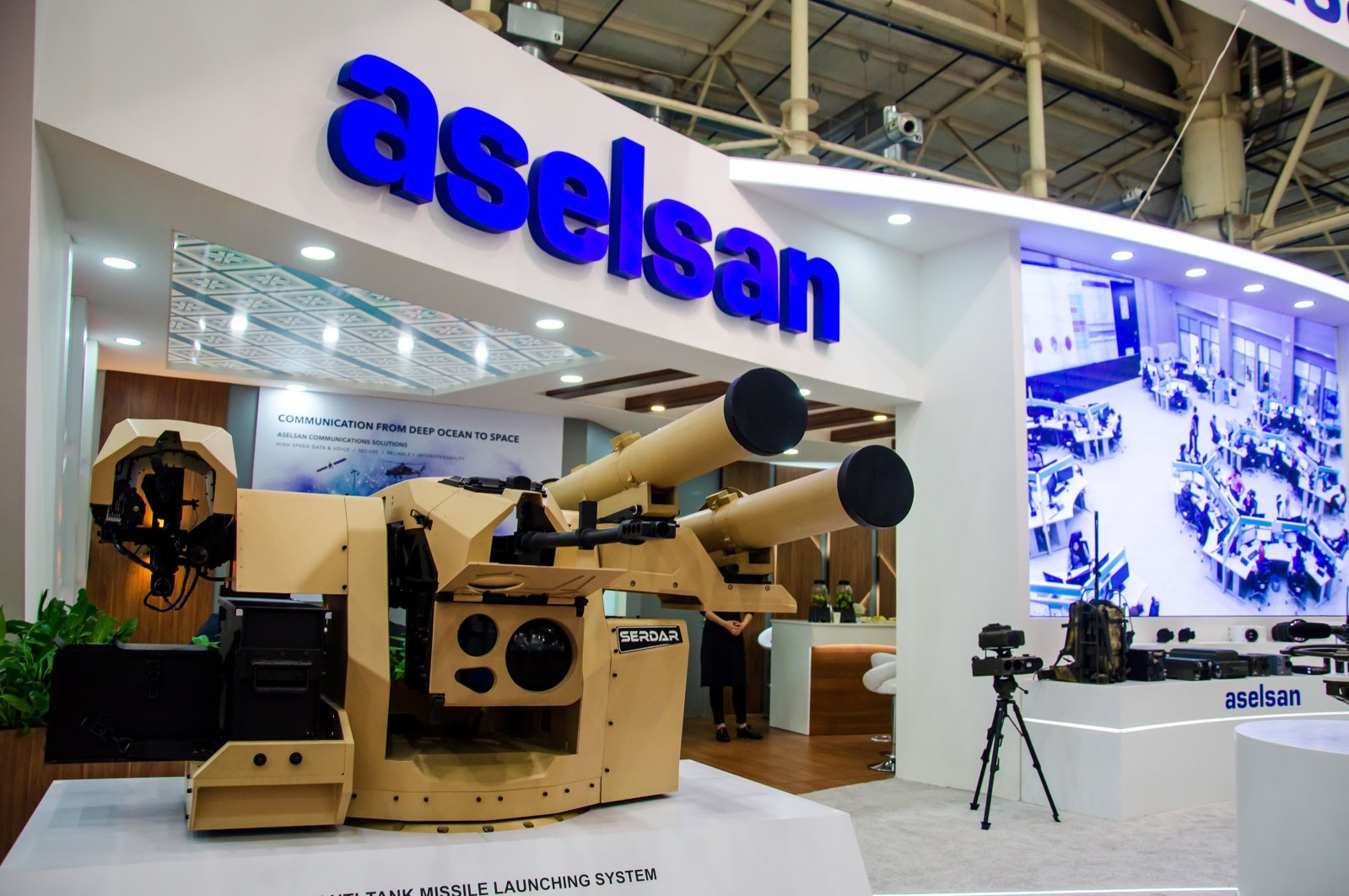 An Aselsan missile launching system on display at a defense fair in Kyiv, Ukraine, Oct. 9, 2019. (Shutterstock Photo)
