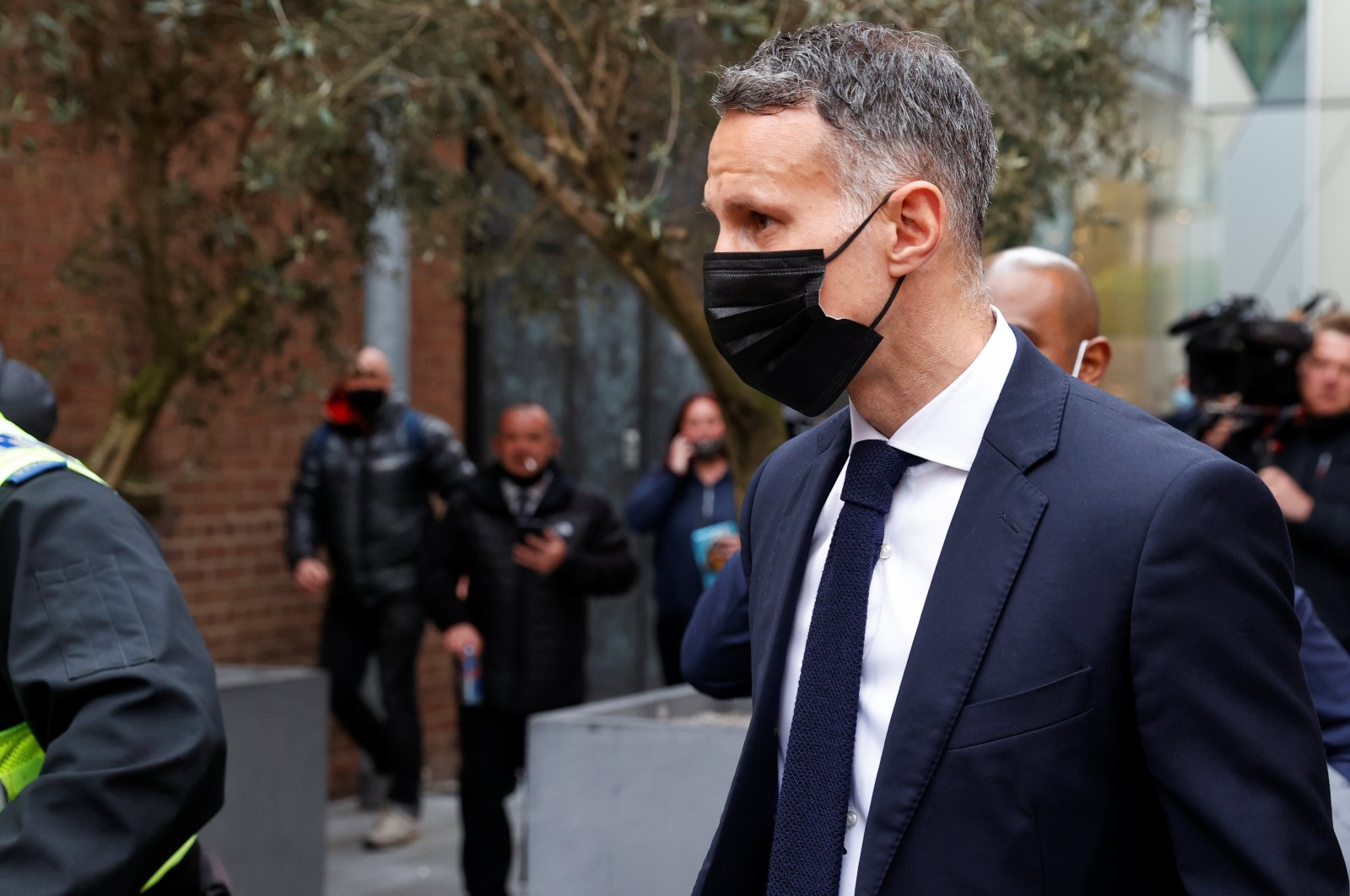 Former Manchester United footballer Ryan Giggs leaves Manchester and Salford Magistrates Court in Manchester, Britain, April 28, 2021. (Reuters Photo)