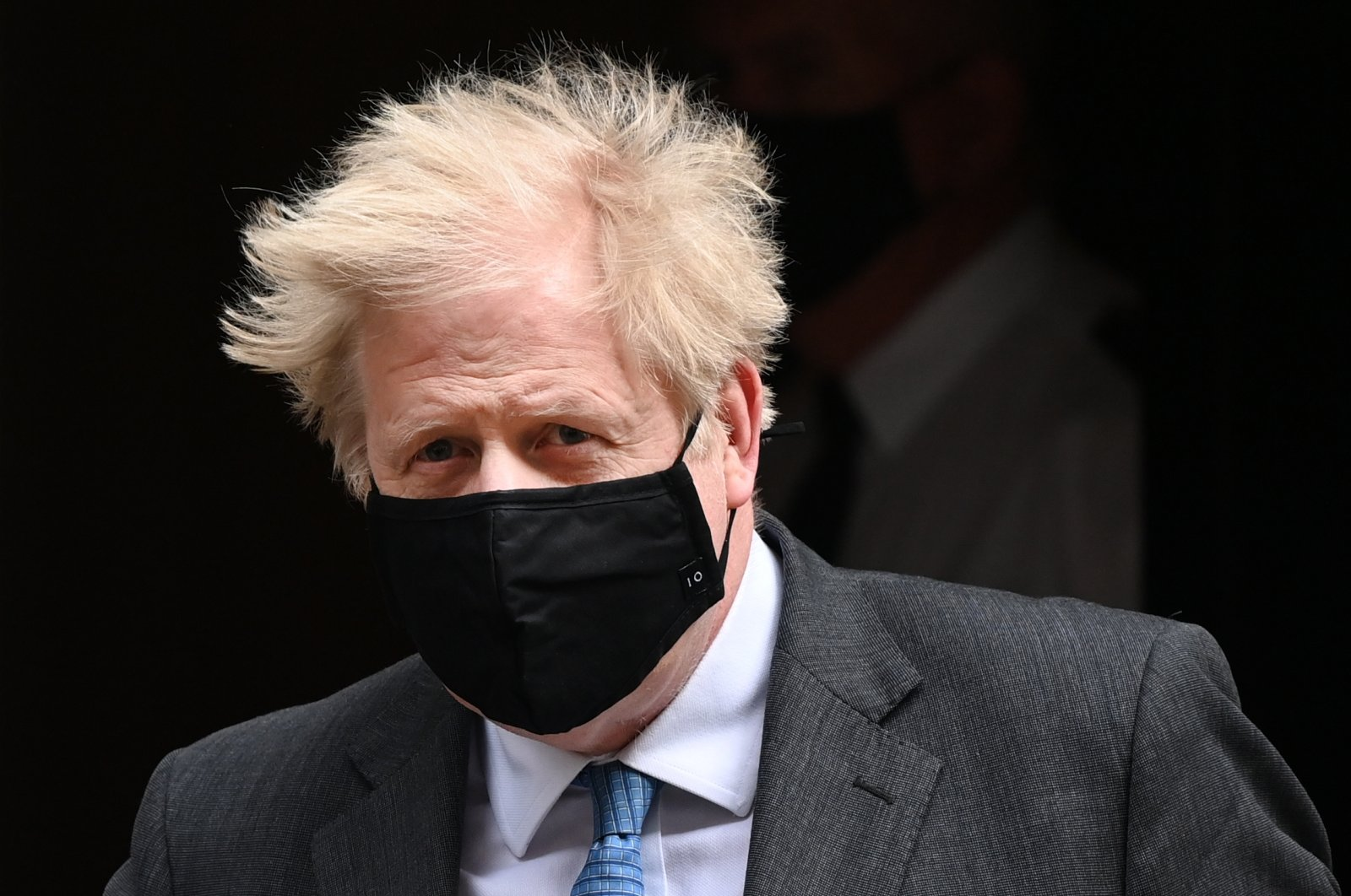 British Prime Minister Boris Johnson departs 10 Downing Street for Prime Minister's Questions at parliament in London, Britain, April 28, 2021. (EPA Photo)
