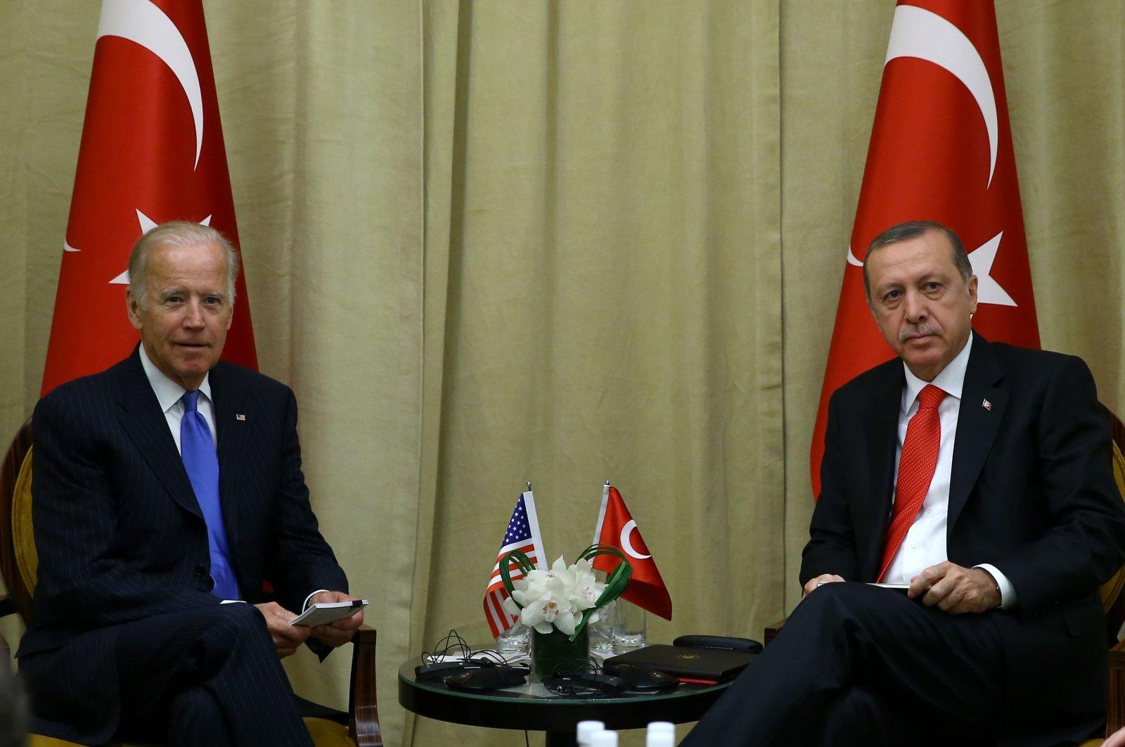 President Recep Tayyip Erdoğan with U.S. President Joe Biden, then the Vice President of U.S. in 2016, New York, (Photo courtesy of Turkish Presidency)