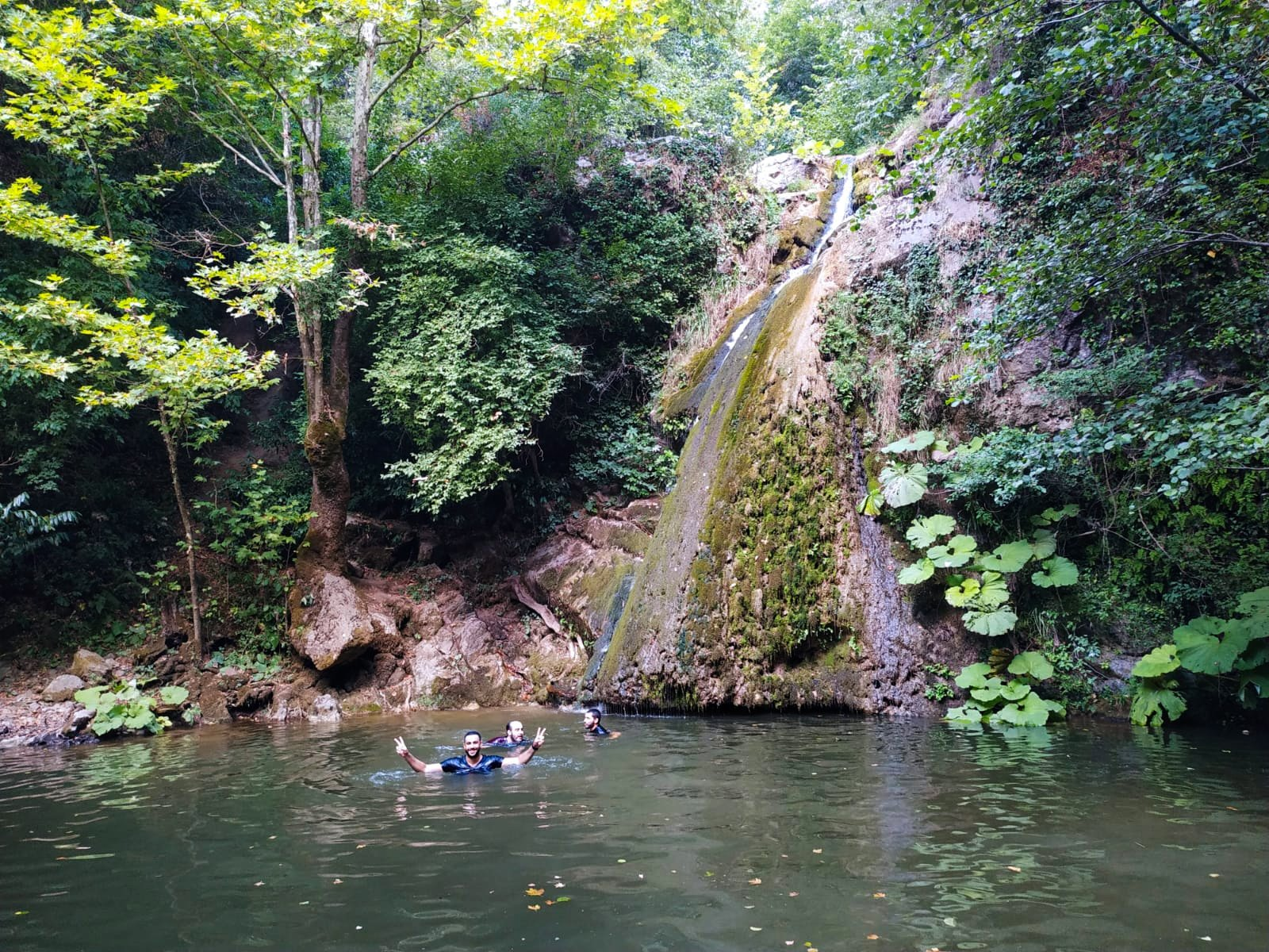 Lush forests and a waterfall await hikers in the town of Derince, Kocaeli, Turkey. (Photo by Linda Hyökki)