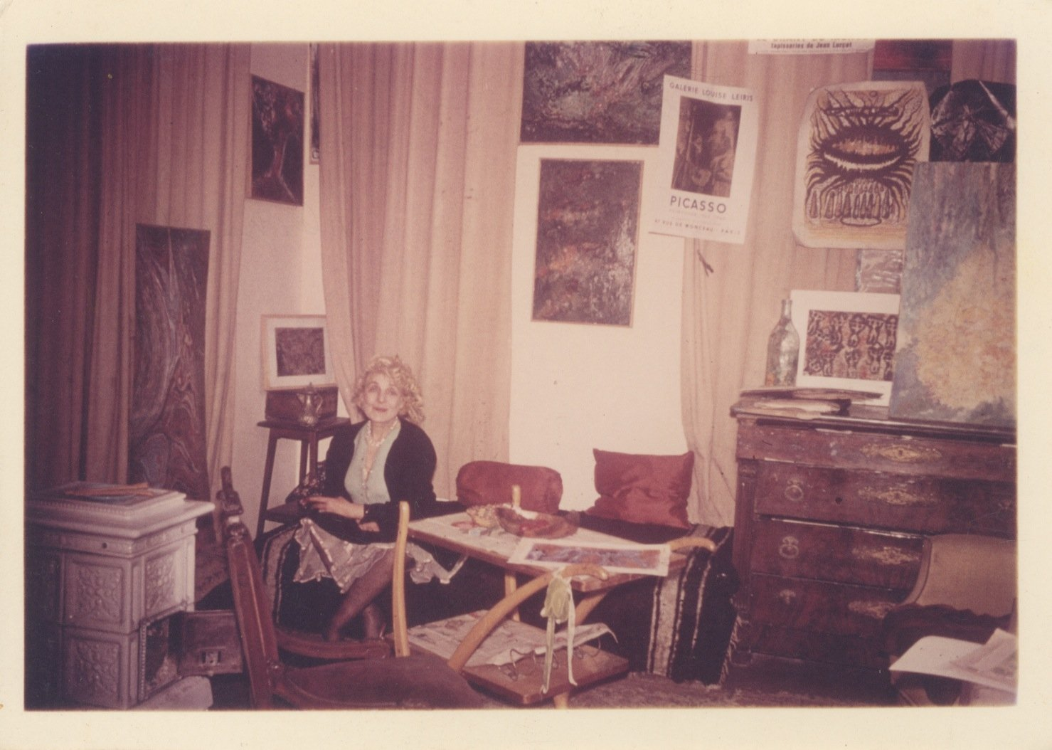 Aliye Berger at her home studio in 1965. (Courtesy of SALT Research)