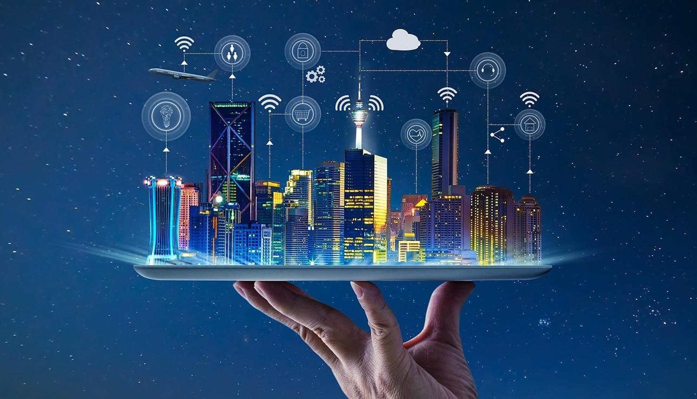 A computer illustration depicting a smart city. (Shıtterstock Photo)