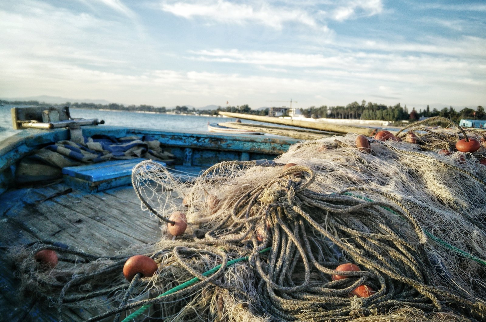 Abandoned nets are a threat to smaller fish and they also damage coral reefs. (COURTESY OF GÜNDOĞDU VILLAGE IMPROVEMENT AND BEAUTIFICATION ASSOCIATION)