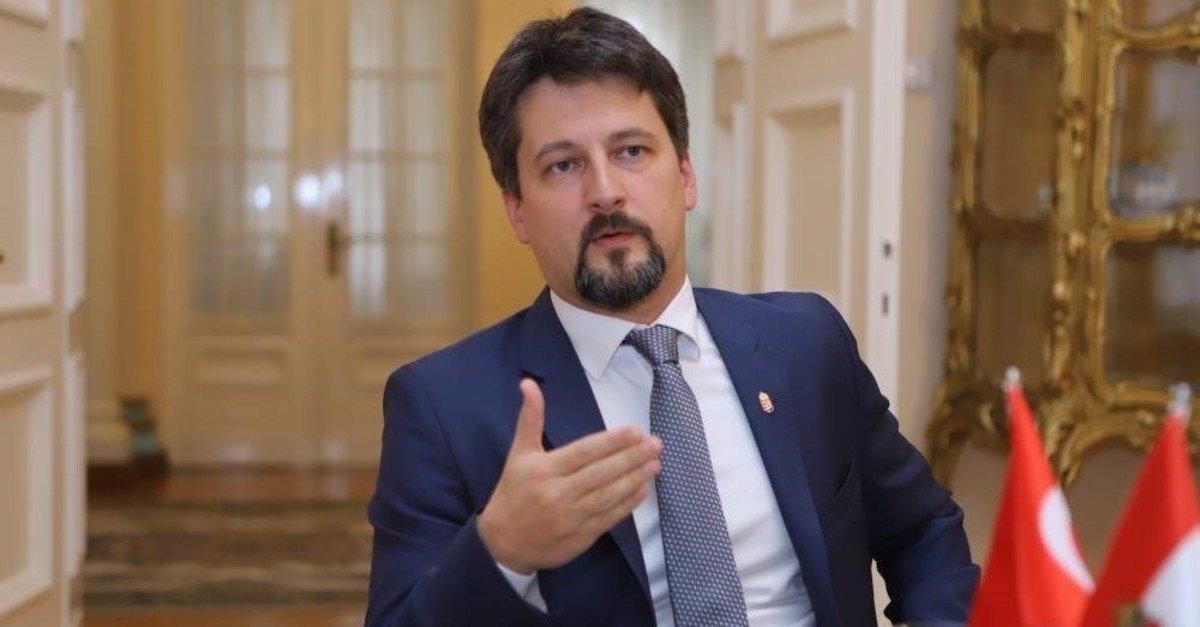 Hungary's Ambassador to Turkey Viktor Matis speaks during an interview with Daily Sabah in Ankara, Turkey, Nov. 29, 2019. (Daily Sabah Photo)