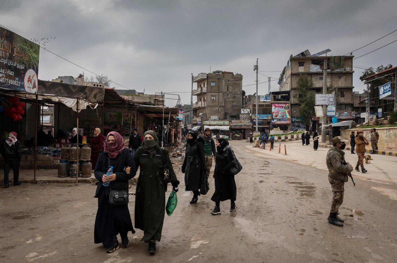 A view from the daily life in northern Syria's Afrin, Feb. 18, 2021. (Sabah Photo)