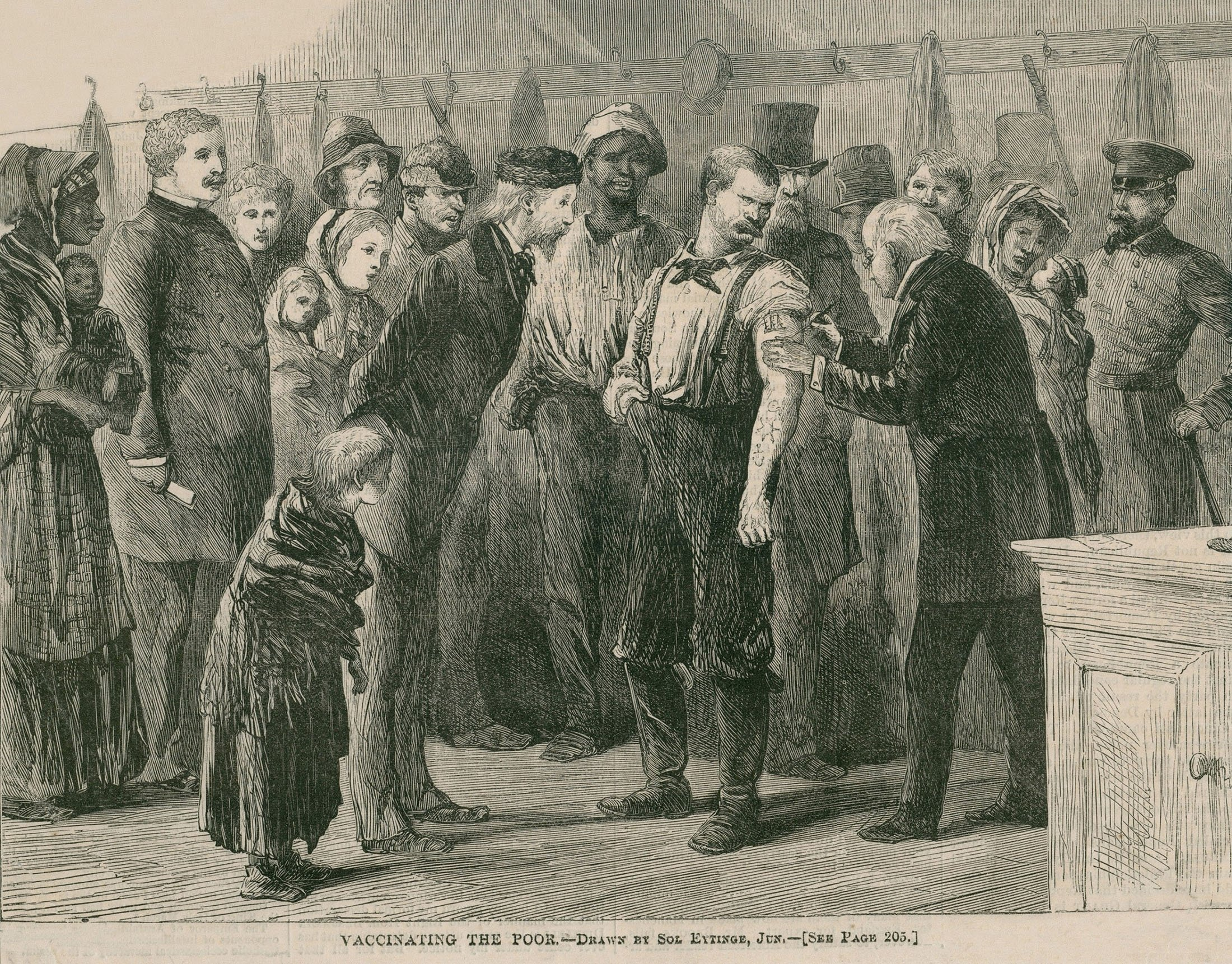 Vaccinating the poor of New York City against smallpox in 1872. (Shutterstock Photo)