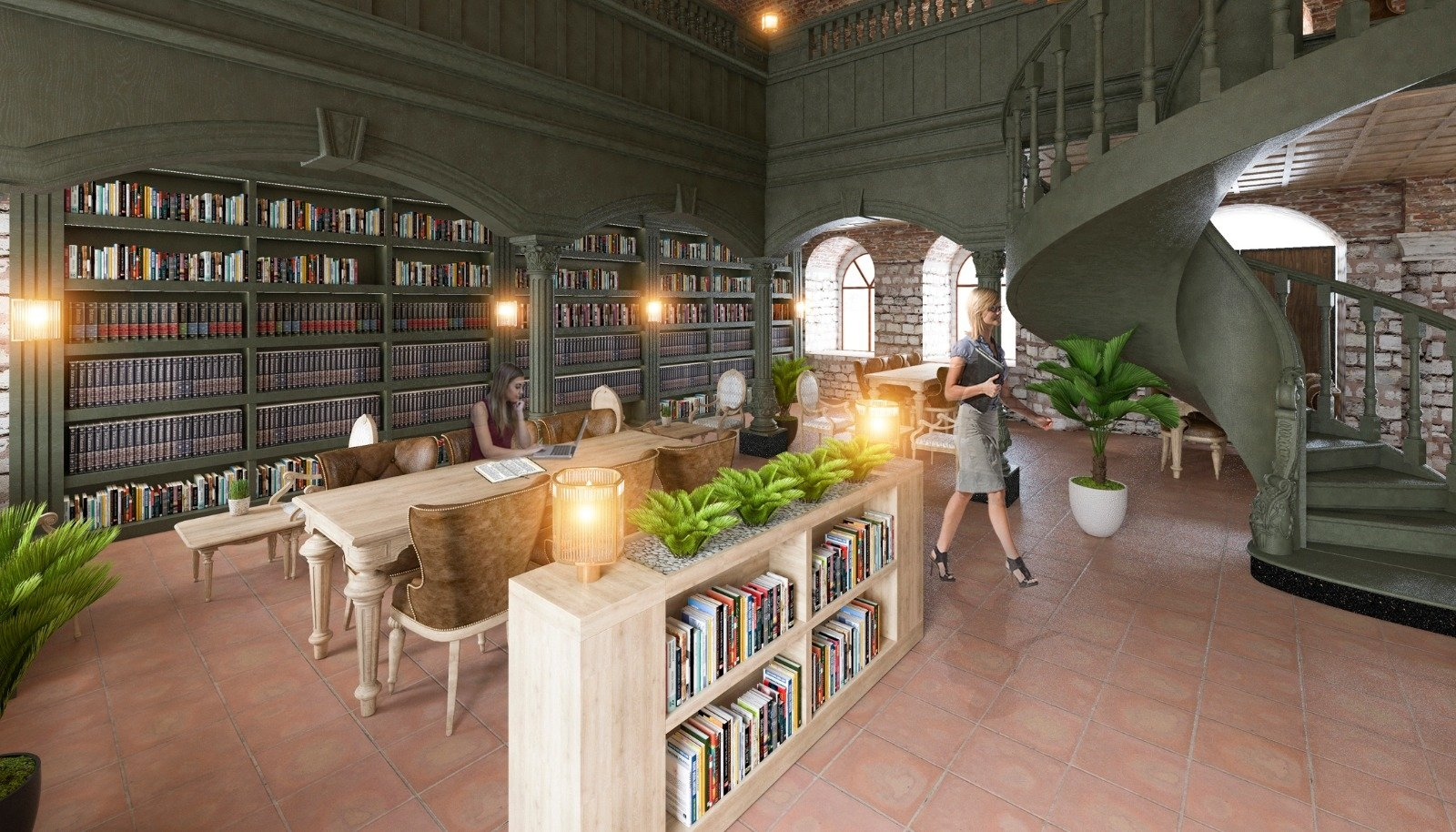 This model, featured in the official plan, shows how the interior of the Esgher Synagogue in Istanbul will look like after restoration. (AA Photo)
