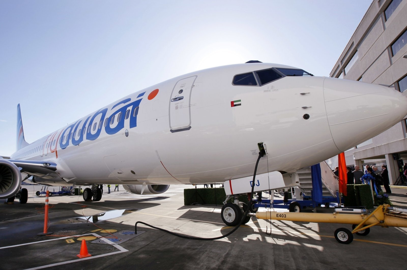 A Boeing 737 as it is delivered to flydubai in Seattle, Washington, the U.S., Oct. 27, 2010. (AP Photo)