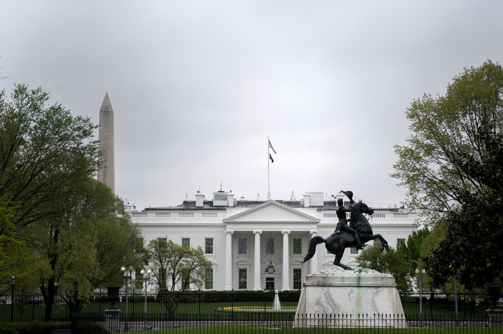 A view of the White House in Washington, D.C., U.S., April 9, 2021. (Photo by Getty Images)