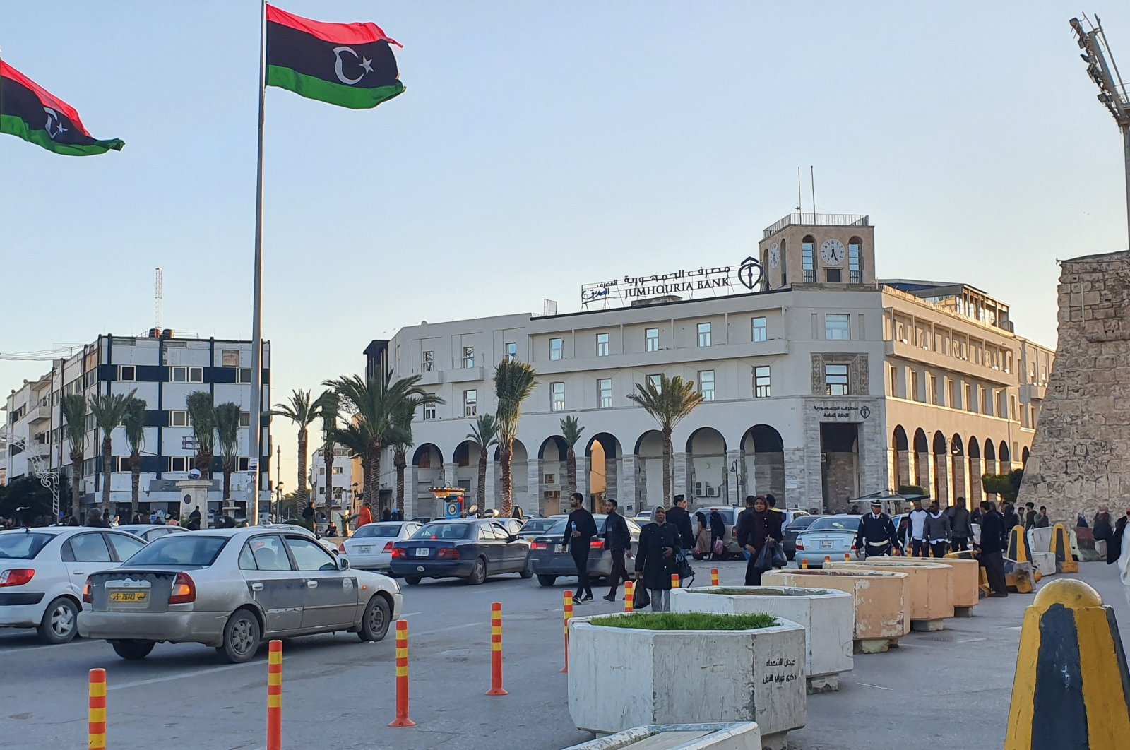 Photo shows a view of Martyr's square in the Libyan capital Tripoli, Jan. 20, 2021. (AFP File Photo)