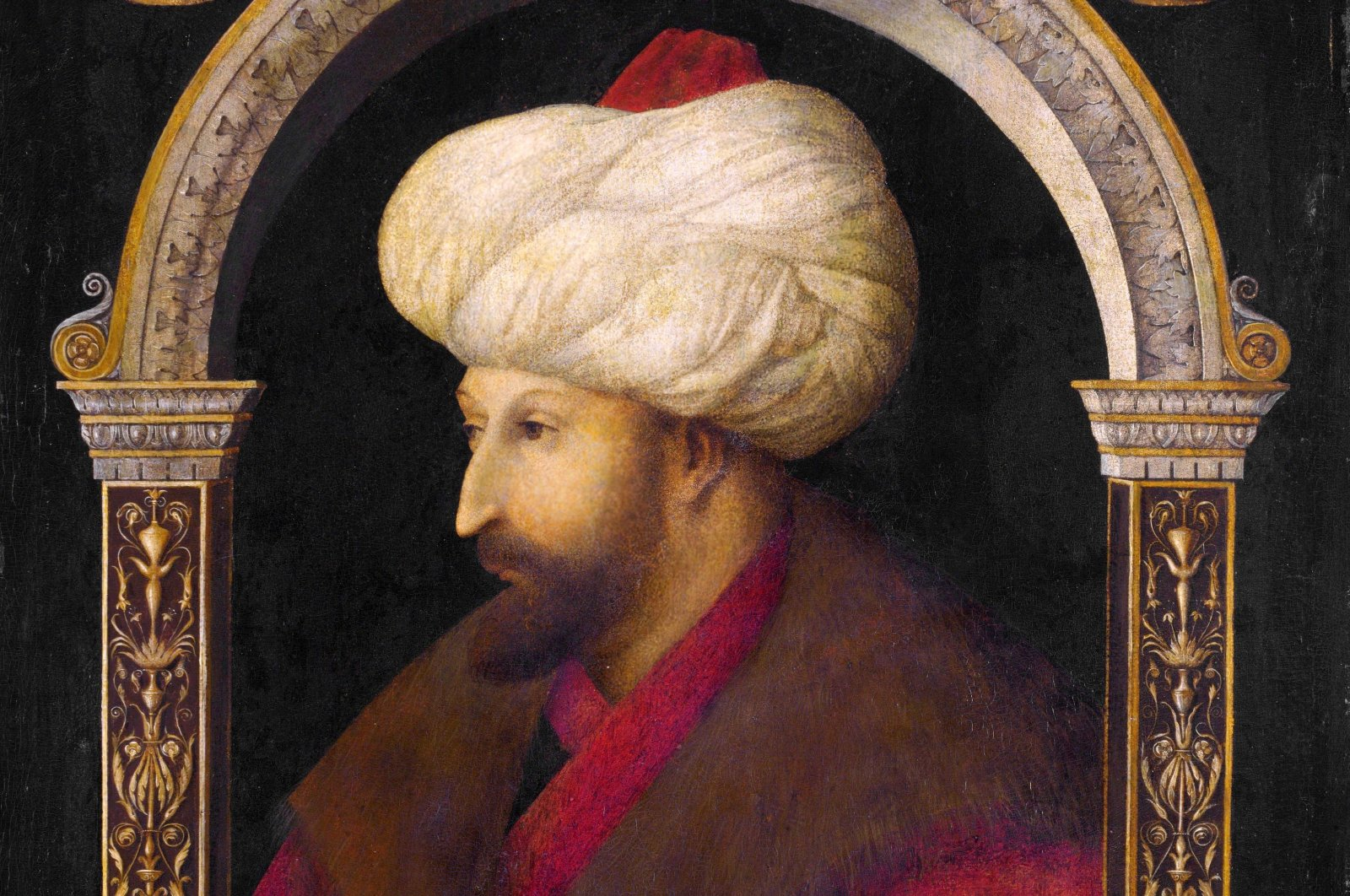 A portrait of Mehmed the Conqueror by Italian painter Gentile Bellini. (Archive Photo)