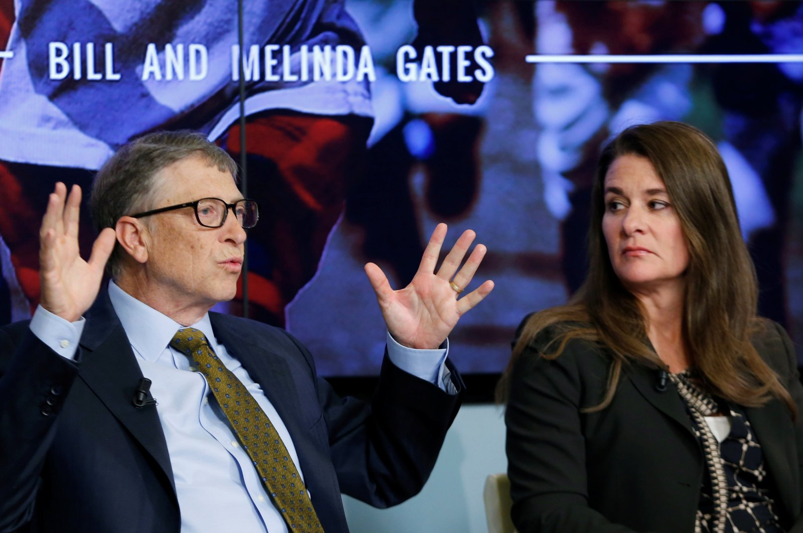 Bill and Melinda Gates attend a debate on the 2030 Sustainable Development Goals in Brussels January 22, 2015. (Reuters File Photo)