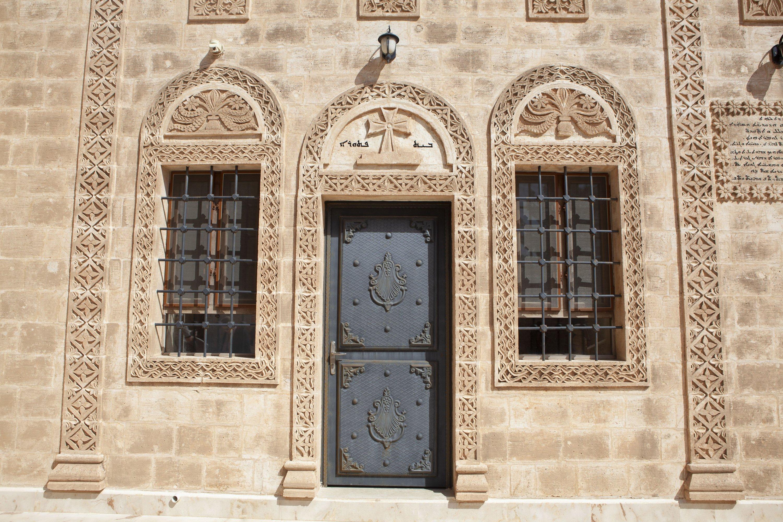 A door of the Monastery of Mor Gabriel, Mardin, southeastern Turkey, May 2, 2021. (AA Photo)