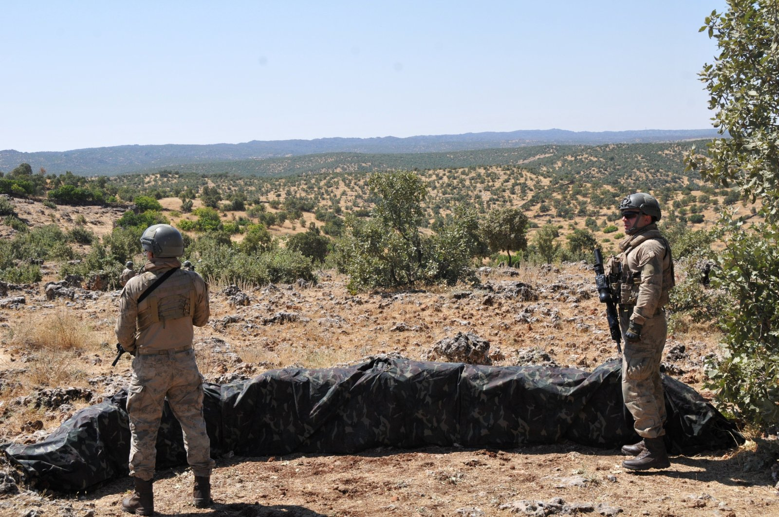 Turkish security forces take part in Operation Kıran-2 in southeastern Turkey, Aug. 30, 2019. (AA File Photo)