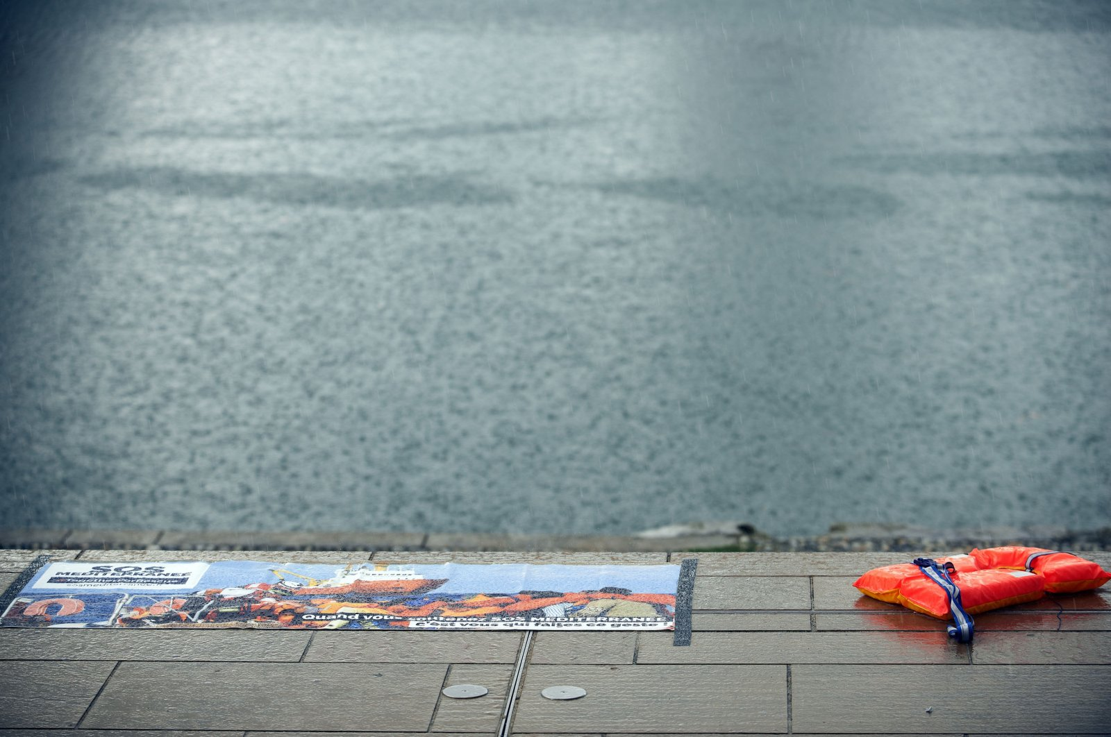A lifejacket sits near the shore in Toulouse, France, Aug. 29, 2020. (Getty Images)