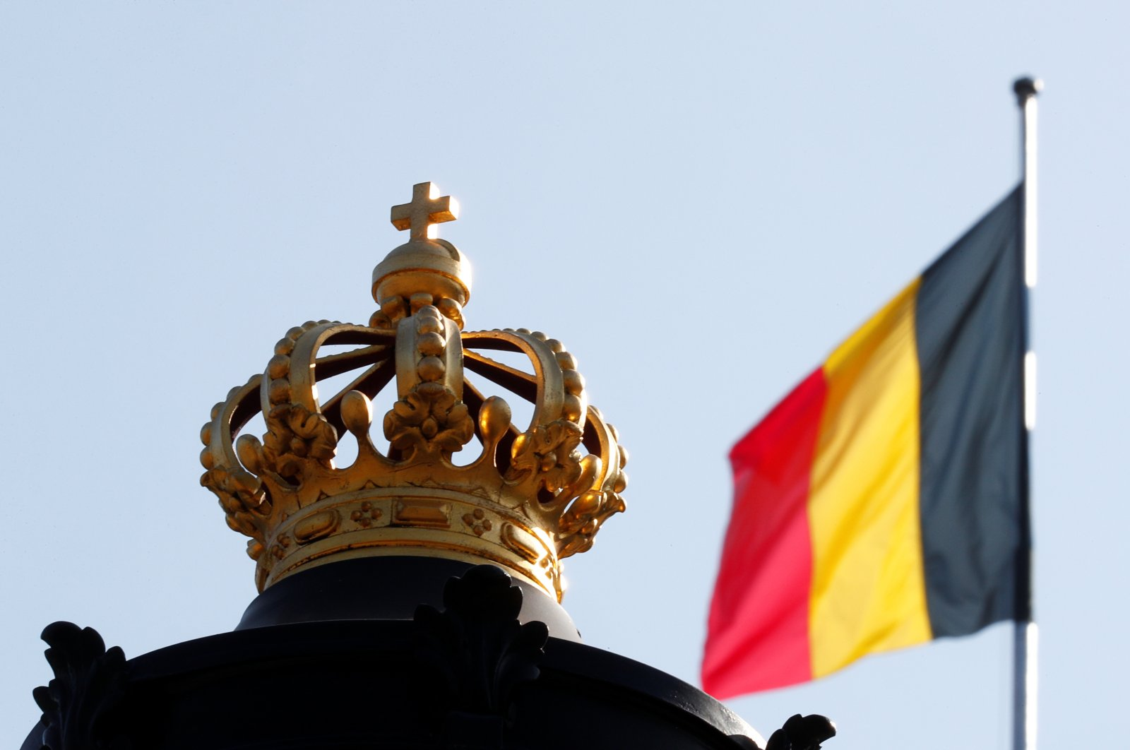 The Belgian flag is seen outside the Royal Palace of Brussels, in Brussels, Belgium, Sept. 21, 2020. (Reuters File Photo)